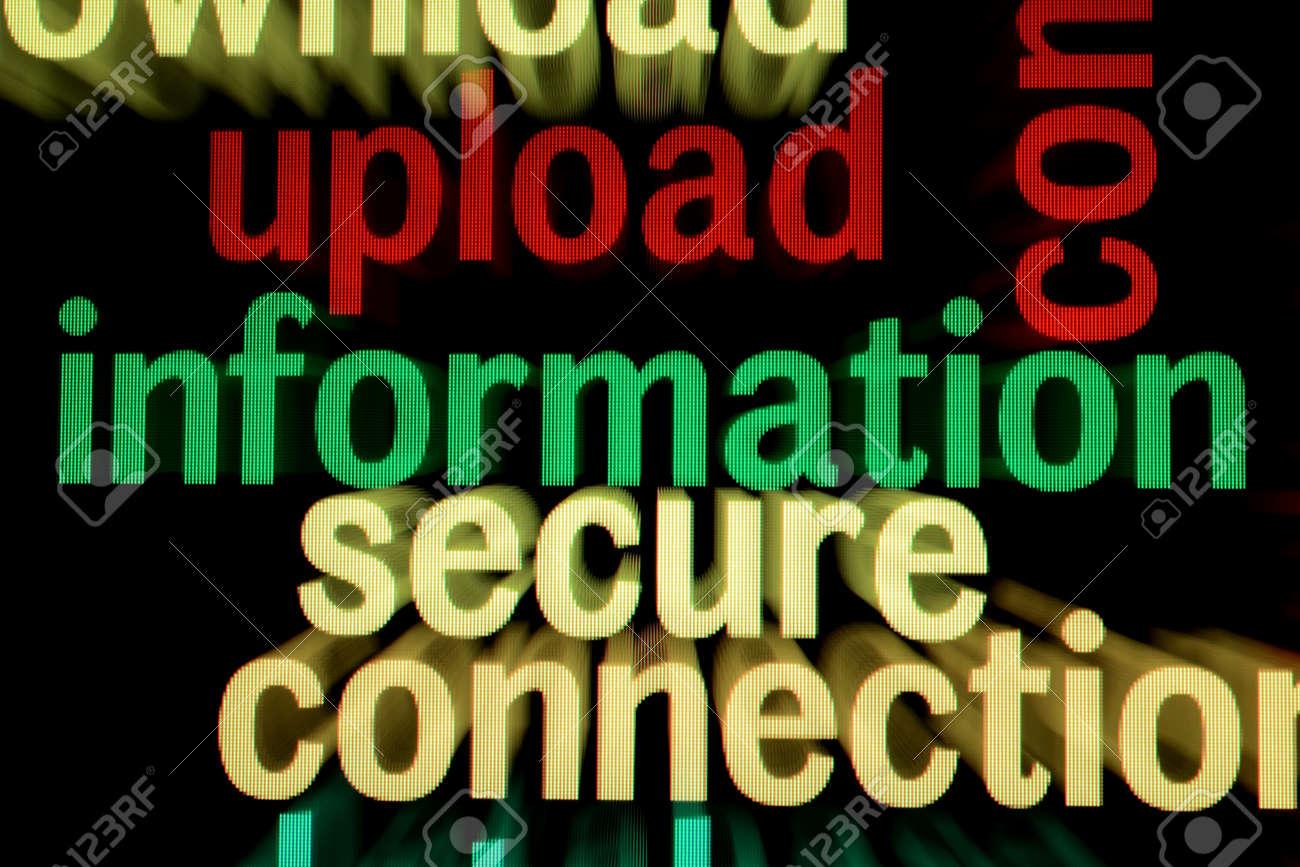 Upload information secure Stock Photo - 18964078