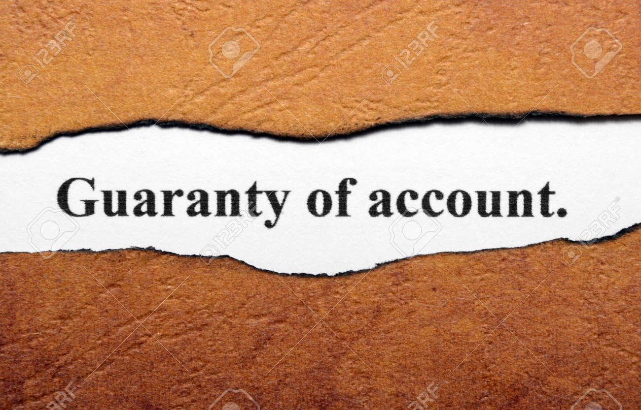 Guaranty of account Stock Photo - 19196418
