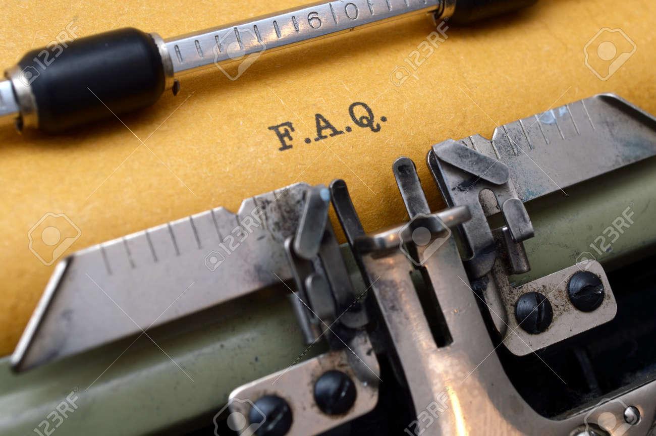 F.A.Q. on typewriter - 19583002