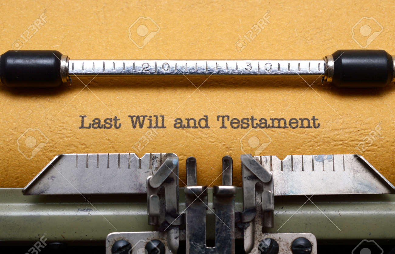 Last will and testament - 20079654