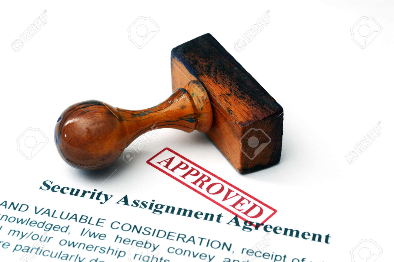 Security Assignment Agreement Stock Photo, Picture And Royalty Free ...