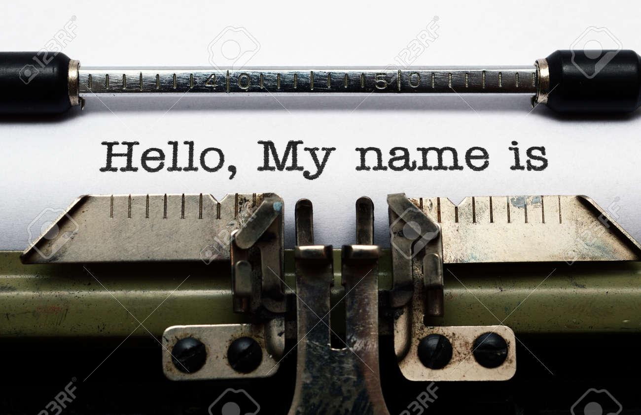 Hello, my name is Stock Photo - 21920288