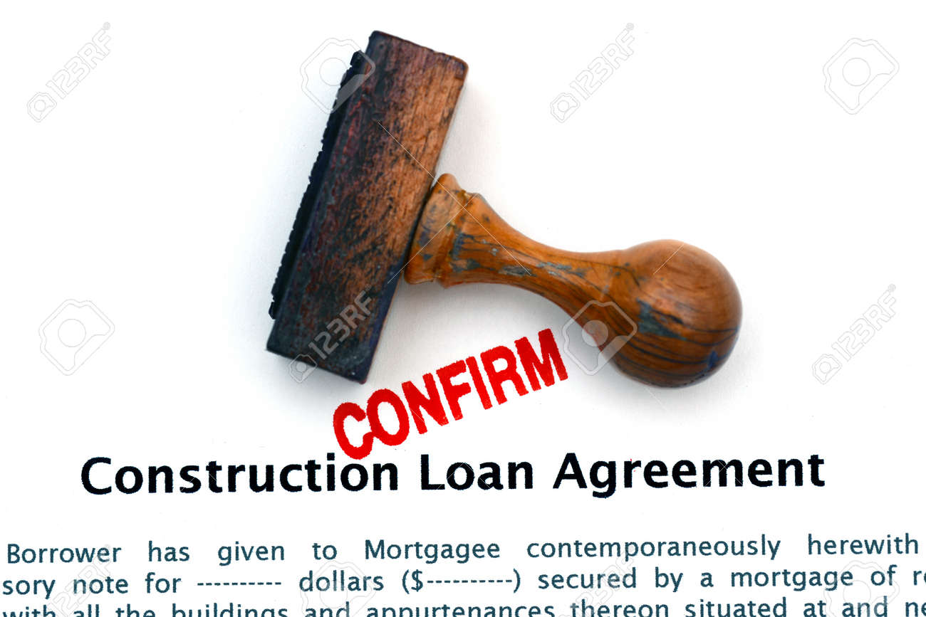 Construction Loan Agreement Photo Picture And Royalty Free – Construction Loan Agreement