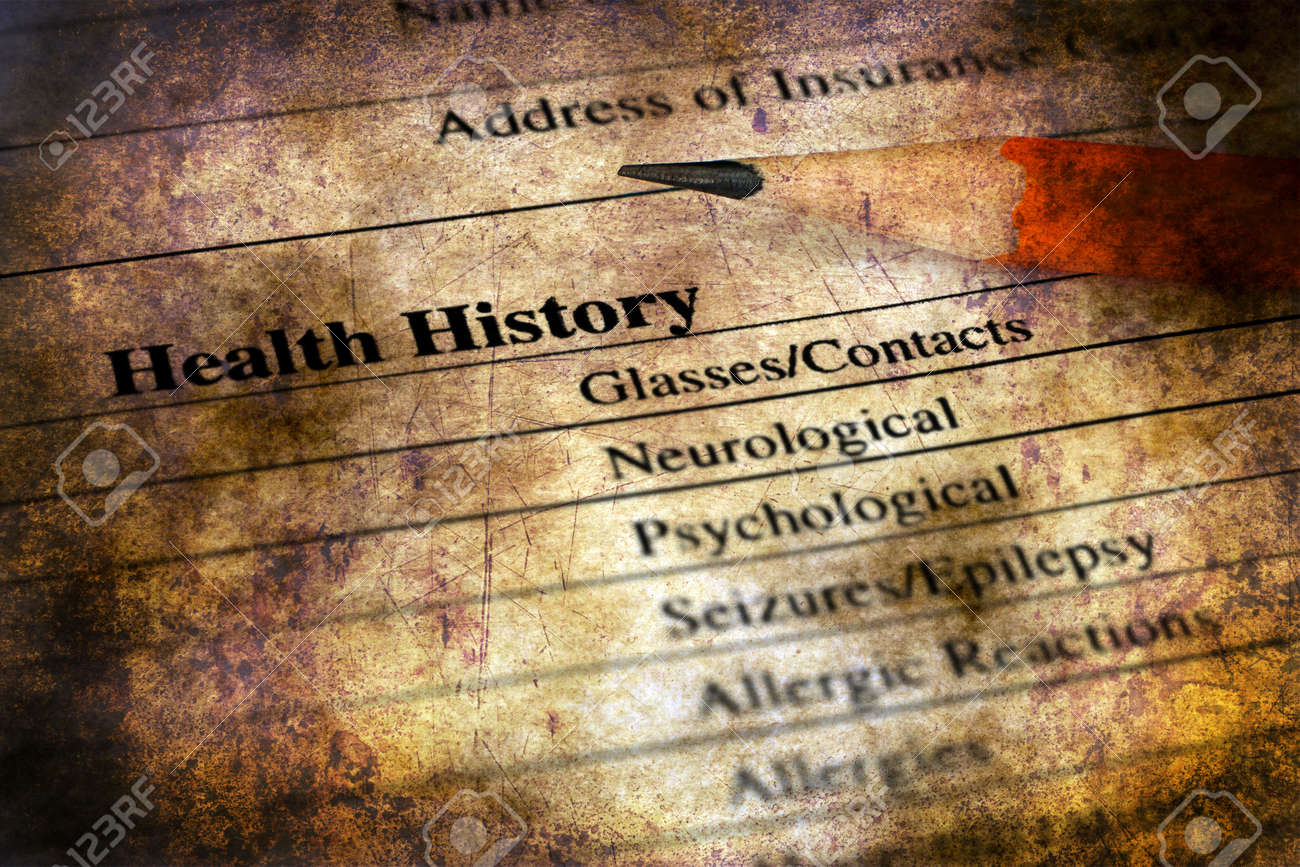 health history form grunge concept stock photo picture and royalty