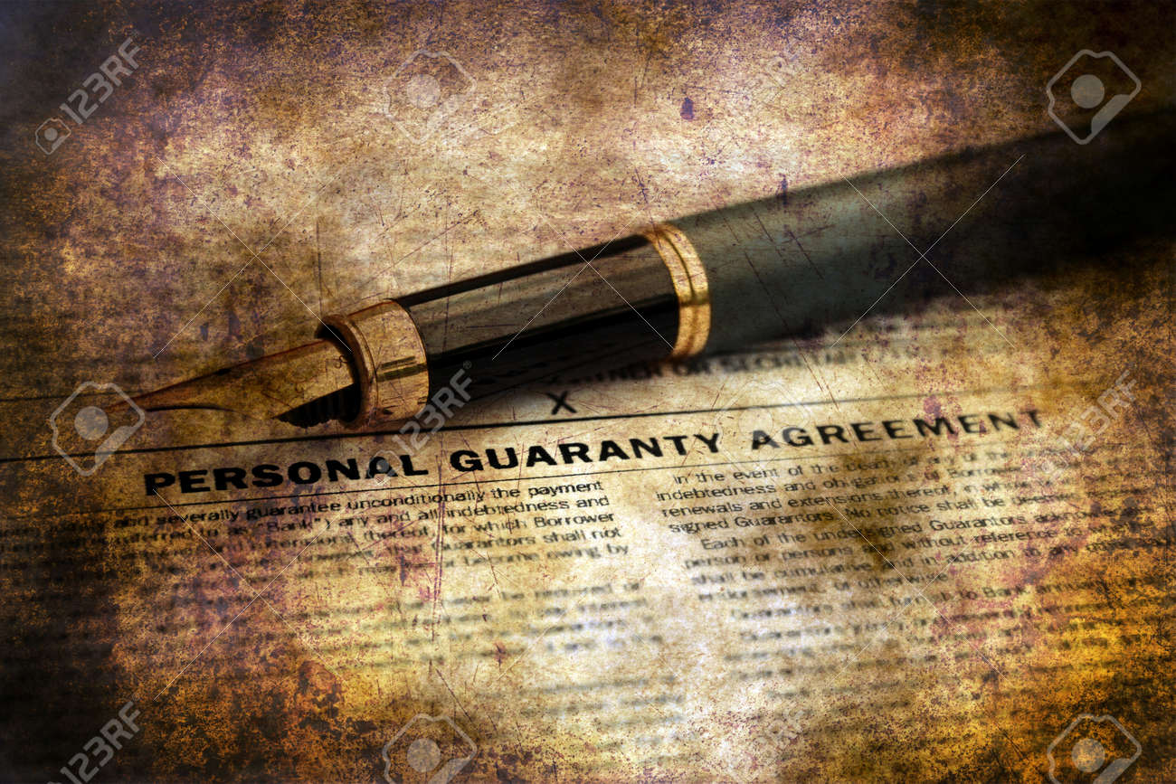 Personal Guaranty Agreement Grunge Concept Stock Photo Picture And