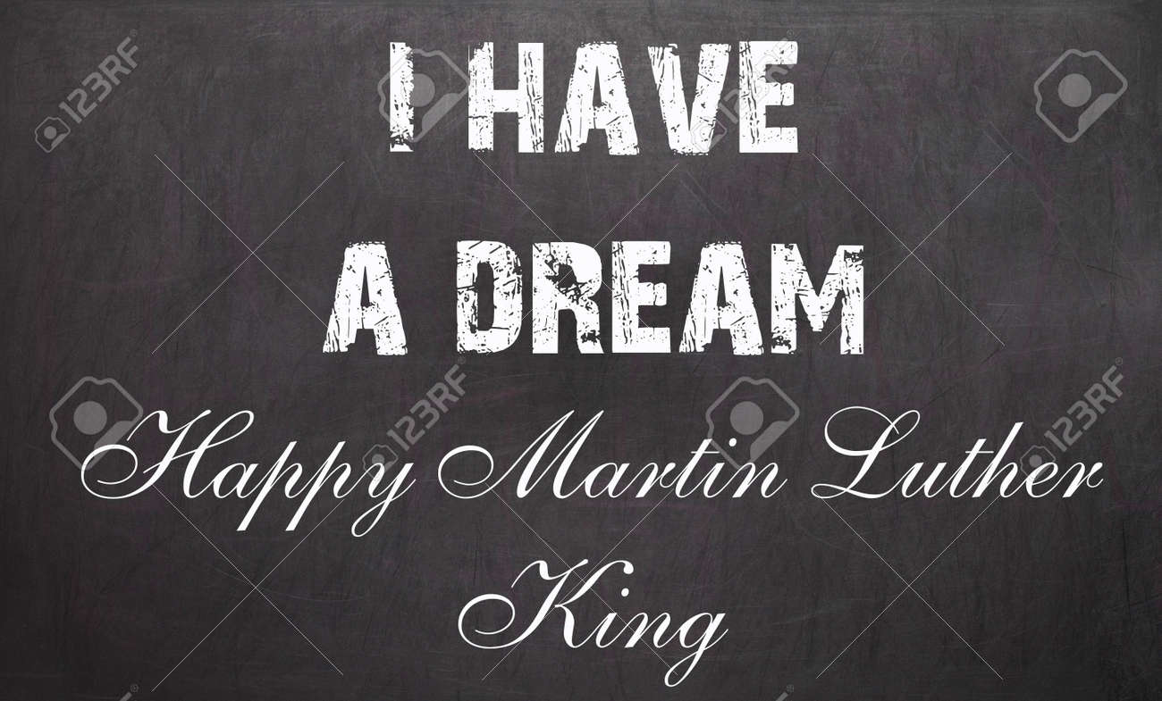 happy martin luther king day free typography greeting card on