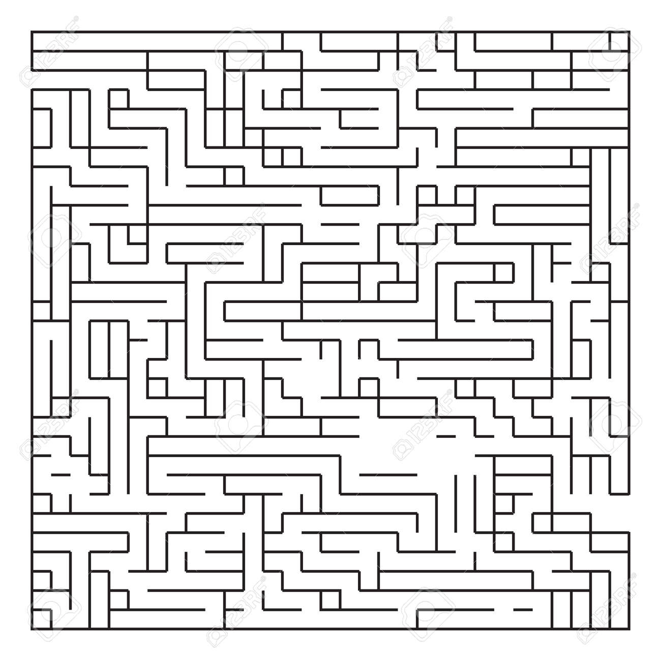 Labyrinth With Entry And Exit Vector Game Maze Puzzle With