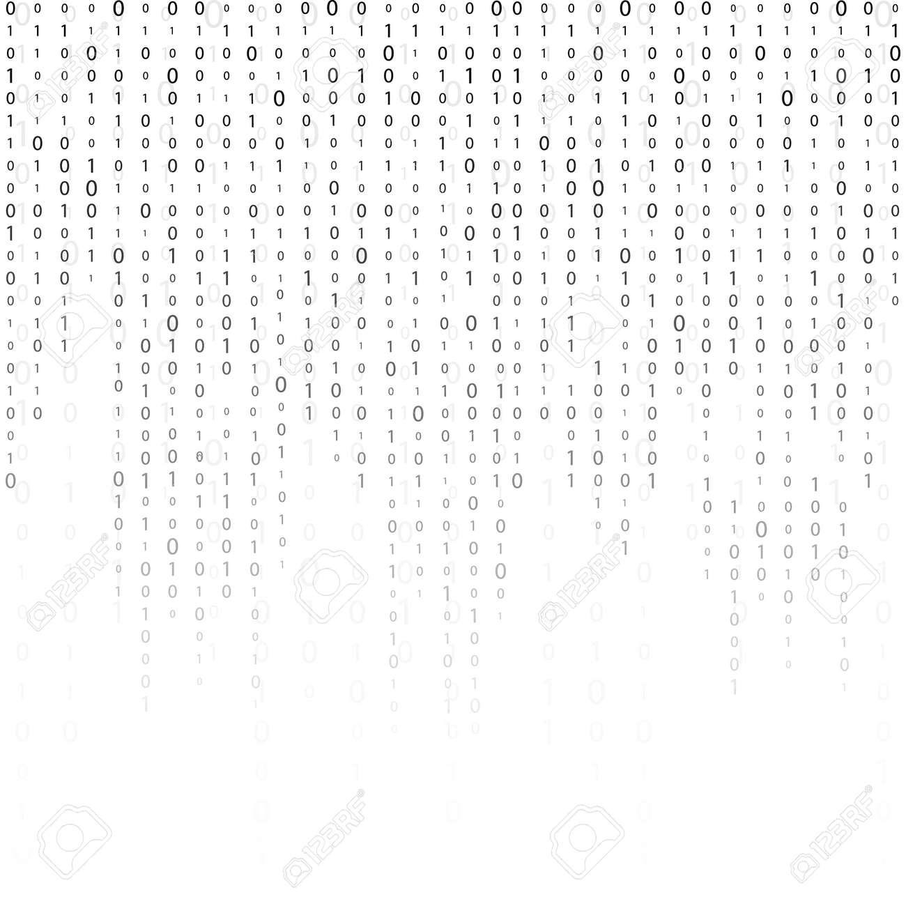 バイナリ コード ゼロ 1 つマトリックス白背景です バナー パターン