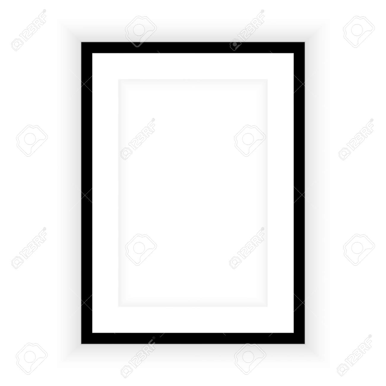 Realistic picture frame isolated on white background. Perfect for your presentations. Vector illustration - 126933923