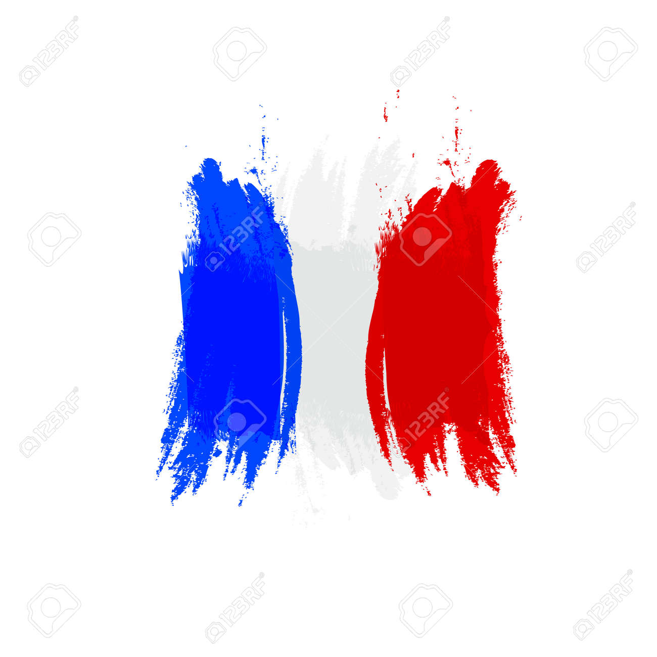 Grunge flag France, brush stroke background grunge texture. - 124150177
