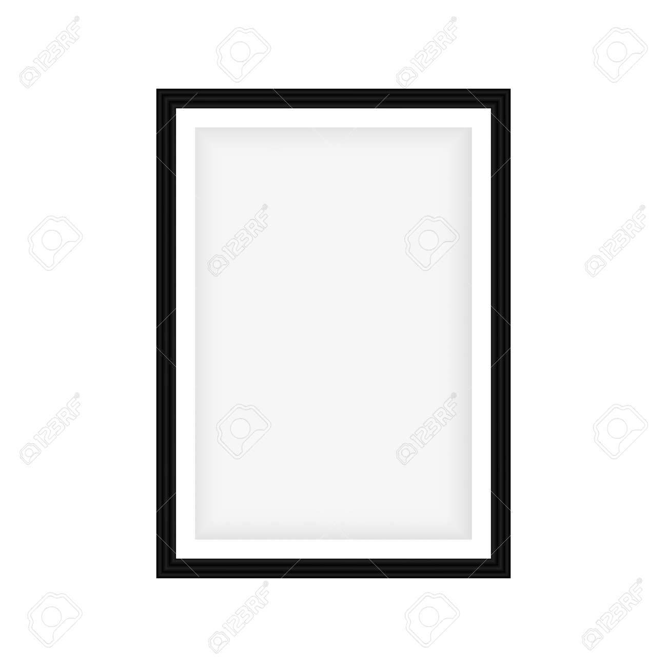 Realistic black frame isolated on white background. Perfect for your presentations. Vector - 120995350