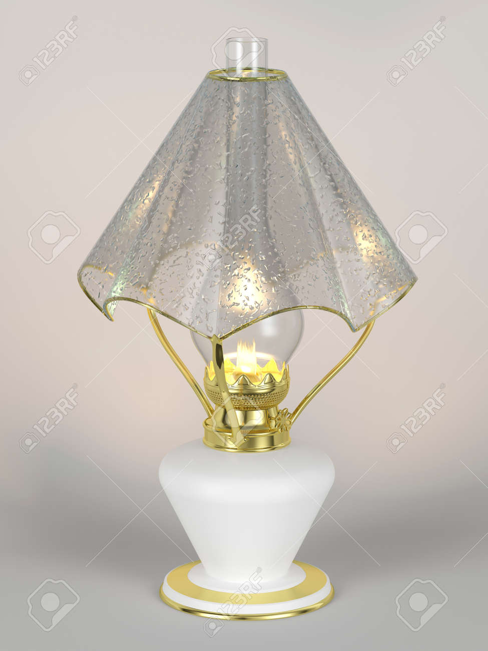 The shining of kerosene lamp with the lamp shade in the form stock stock photo the shining of kerosene lamp with the lamp shade in the form of an umbrella mozeypictures Gallery