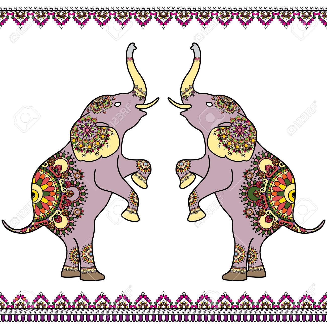 Erfreut Elefant Bild Zu F Rben Zeitgenössisch - Beispiel ...