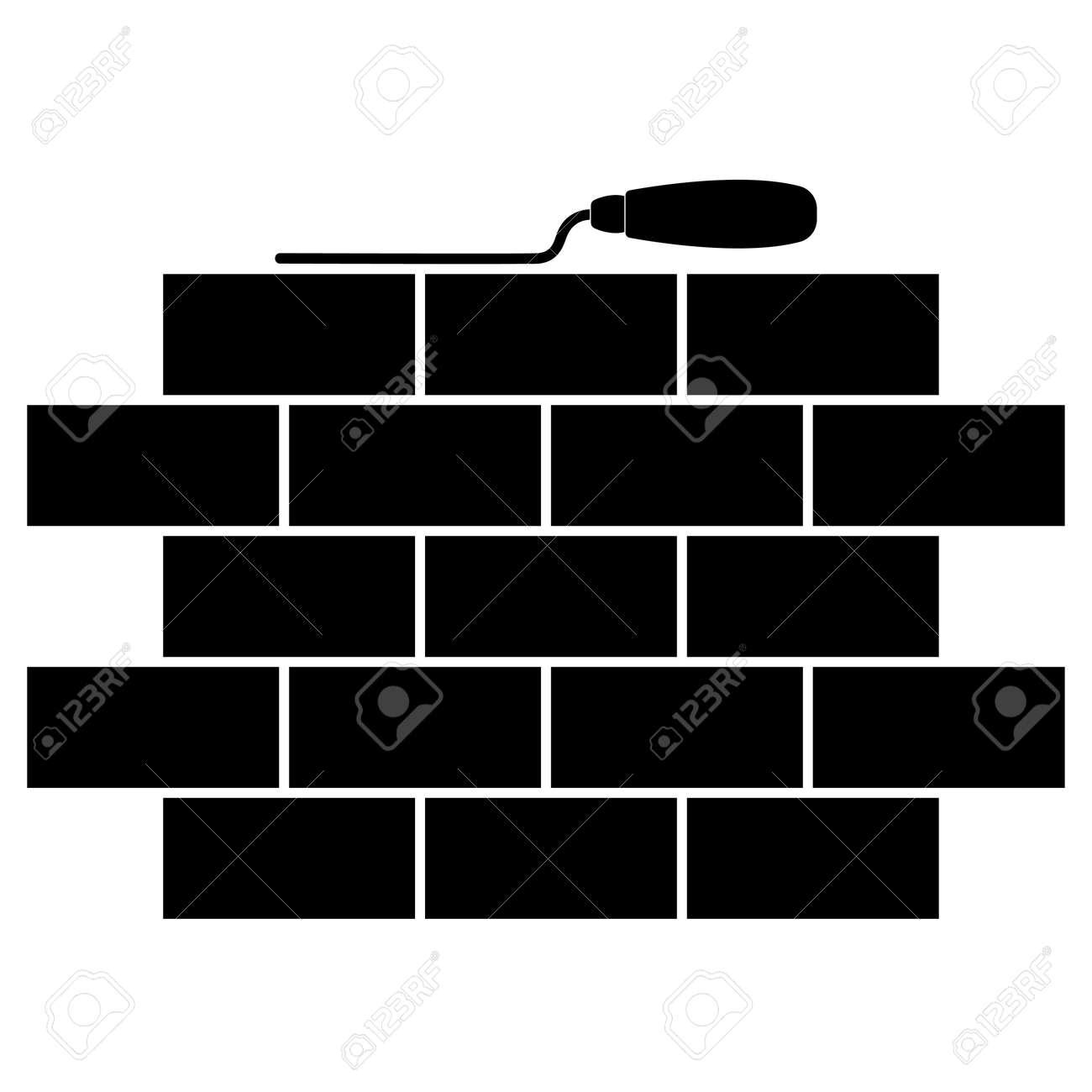 brickwork and building trowel icon masonry flat logo simple rh 123rf com masonic logos and emblems masonry logos free