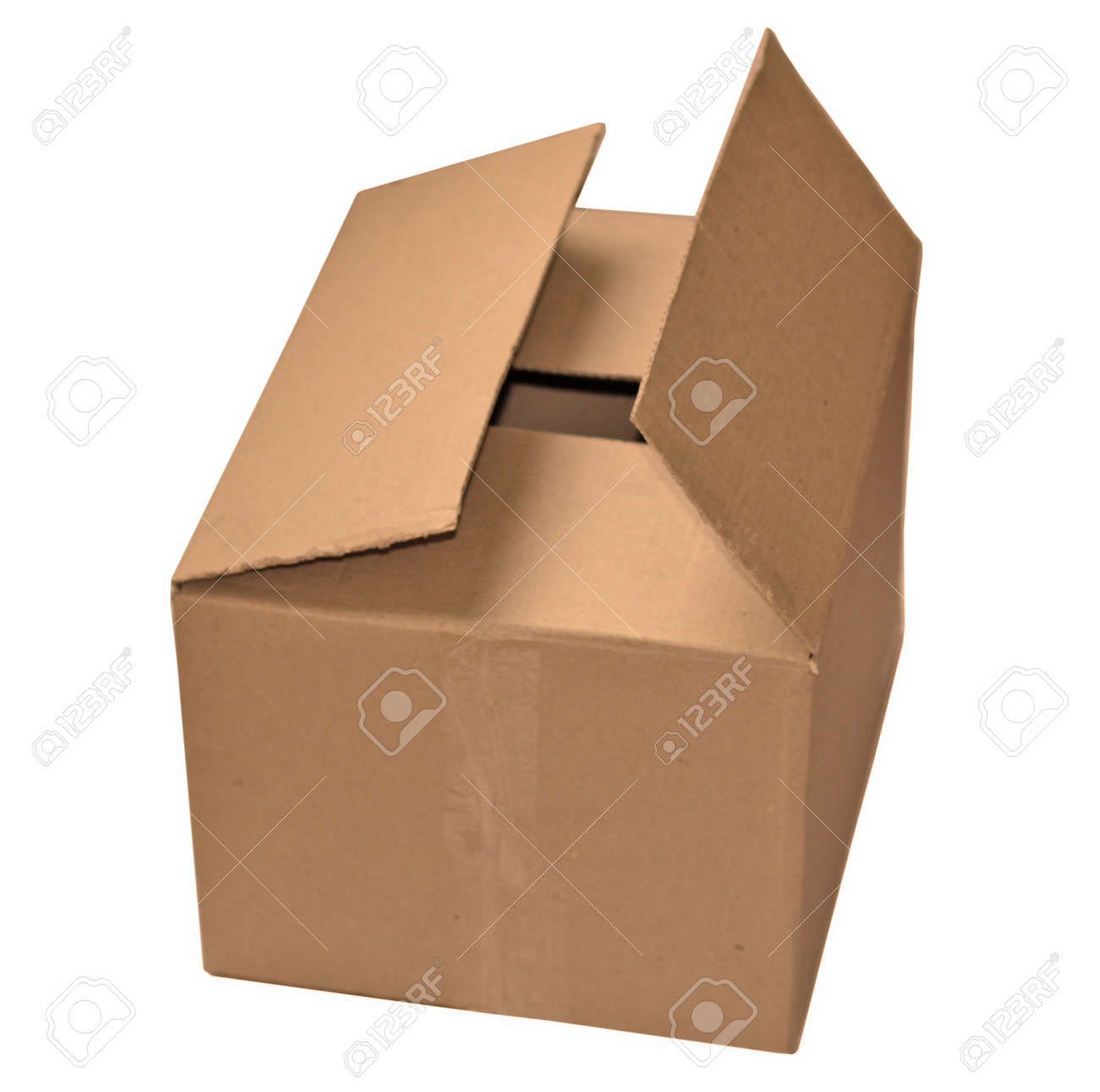 cardboard isolated Stock Photo - 11878596