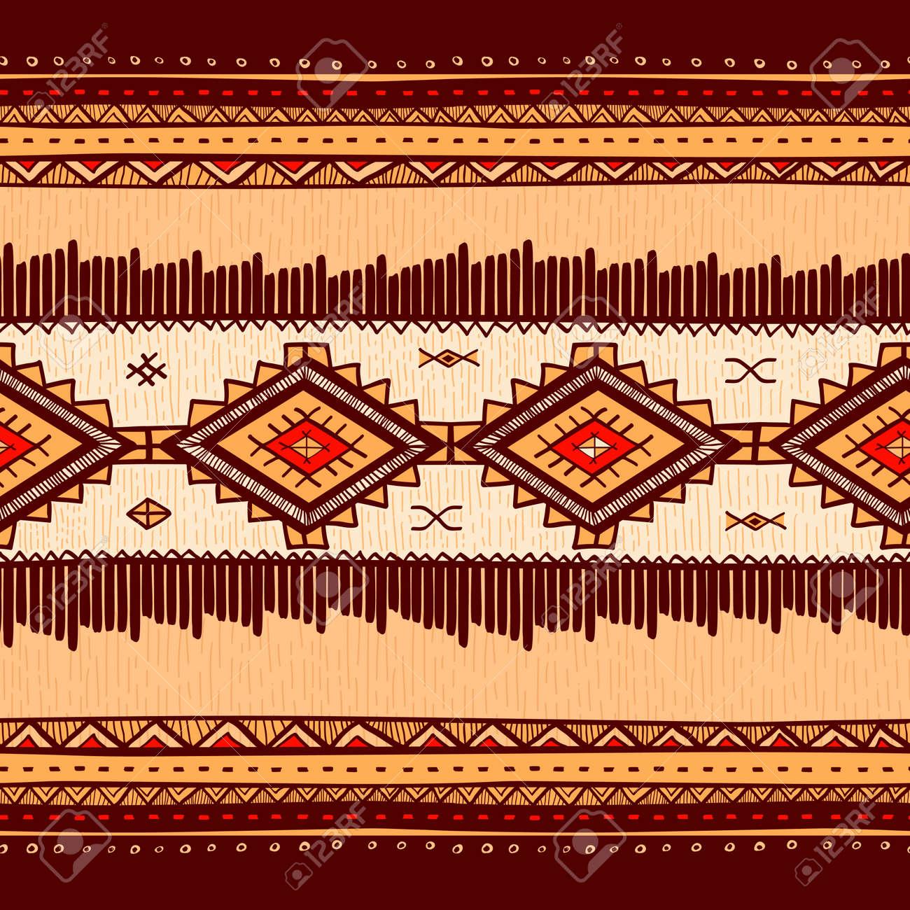 Ethno Muster nahtlose abstrakten hand gezeichnet ethno-muster, tribal hintergrund