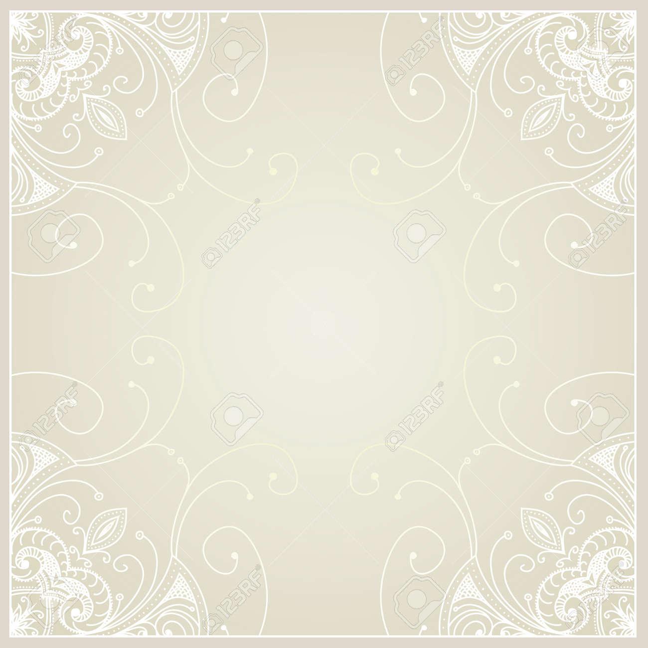 Abstrakter Hintergrund Mit Geometrischen Zierrahmen Blumenfeld