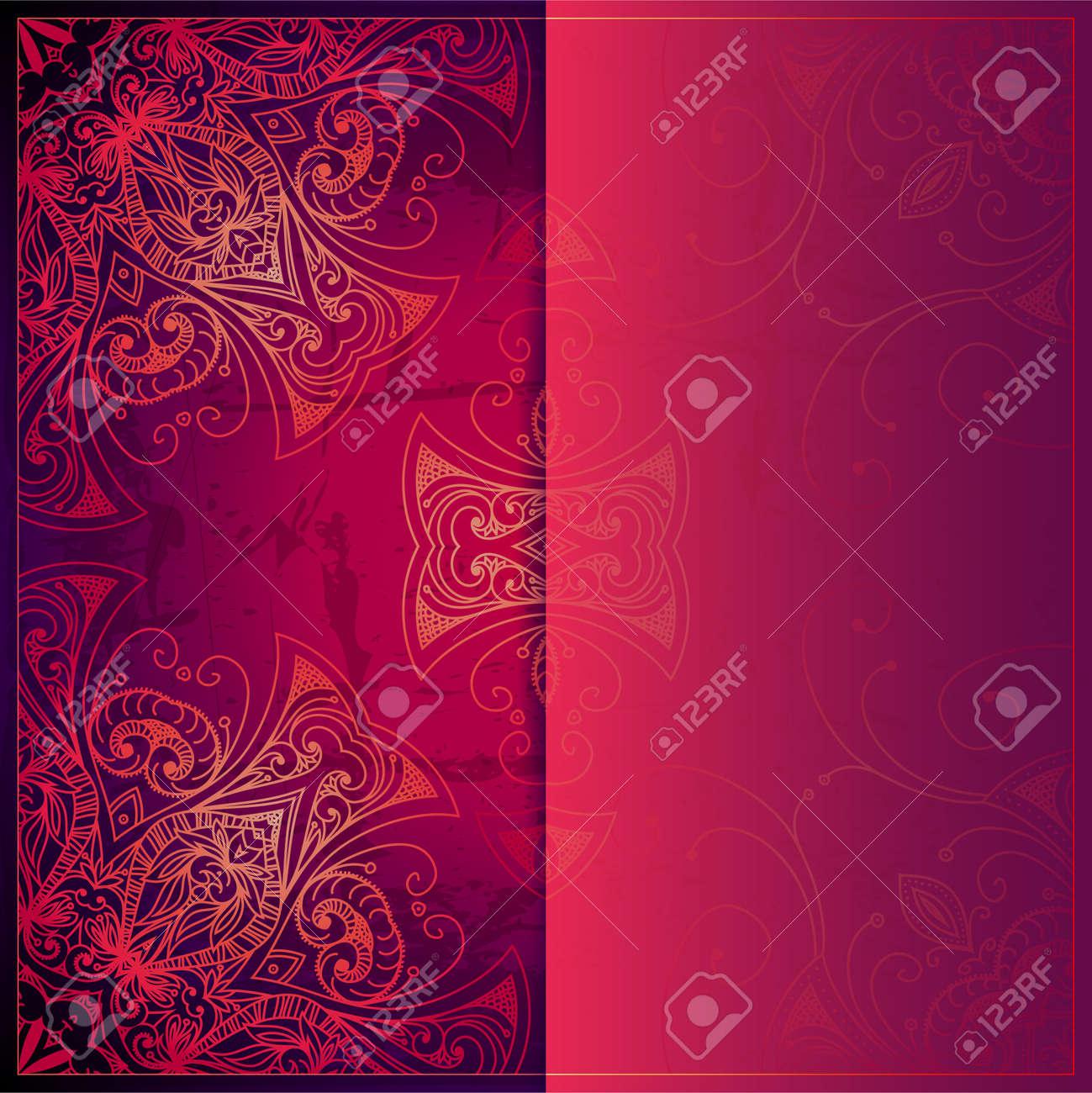 Abstract Vector Círculo Ornamento Floral. Diseño Del Patrón De ...
