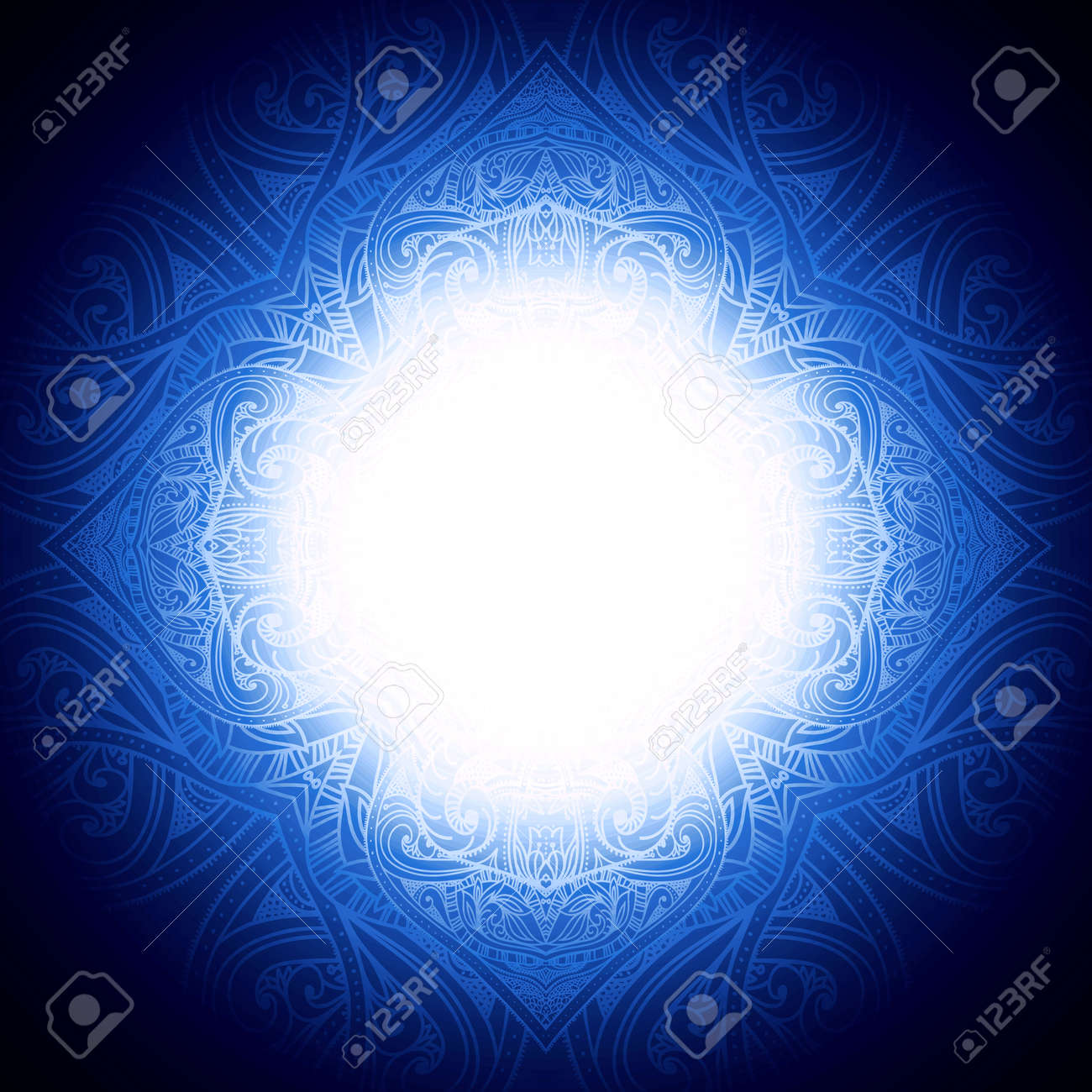 Abstract Background With Floral Frame. Can Be Used For Islamic ...