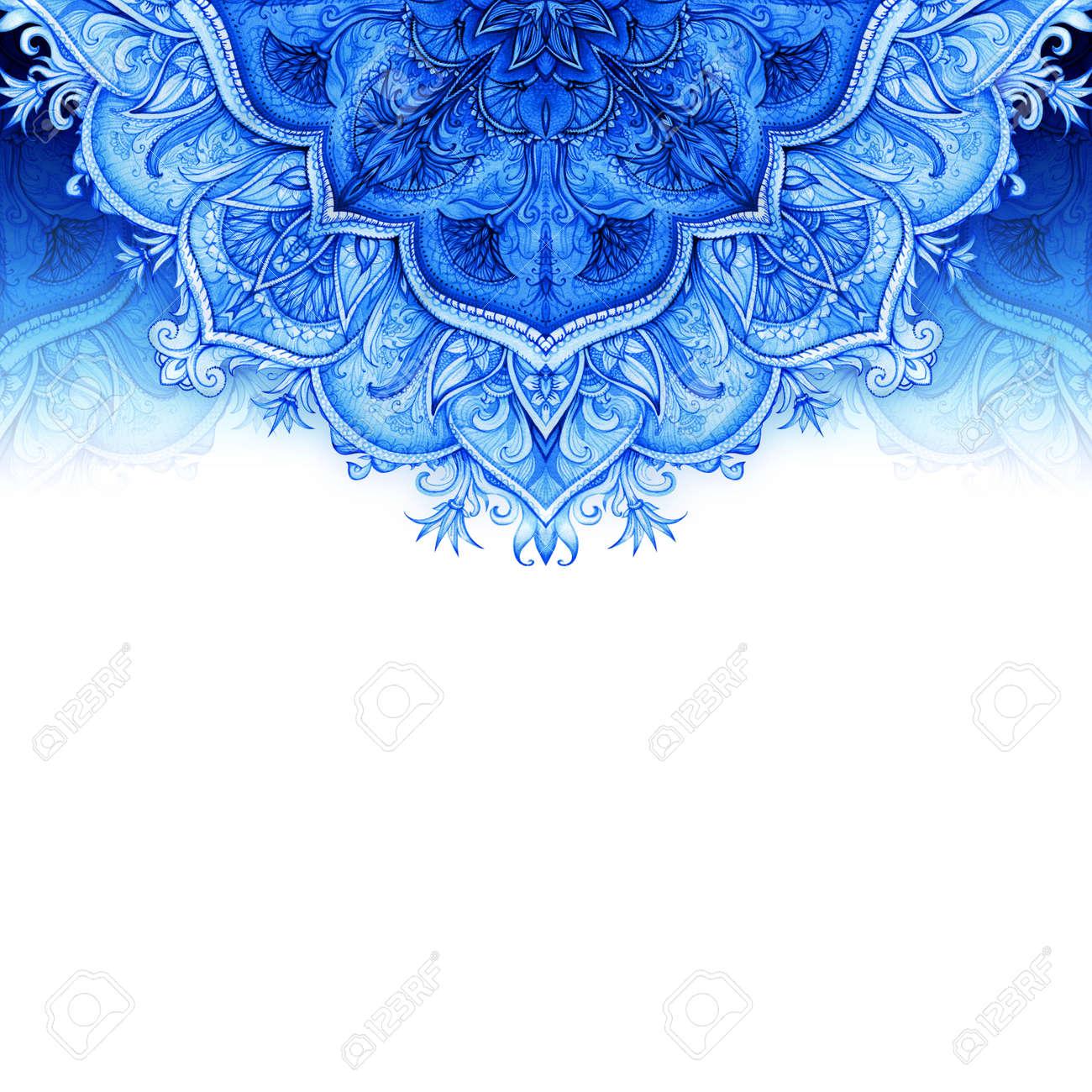 Retro Vintage Wedding Greeting Card Blue Background Or Invitation Decorative Elements Hand Drawn