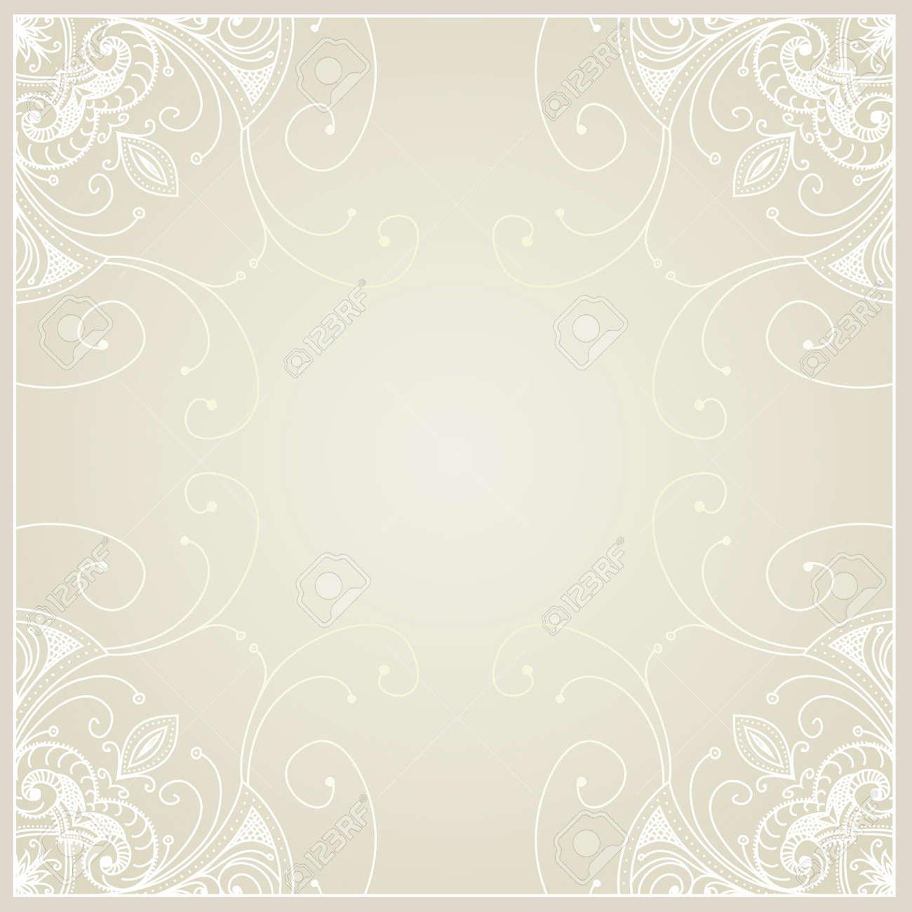 Abstracto Con Diseño Del Marco Geométrico Ornamental Floral Del ...