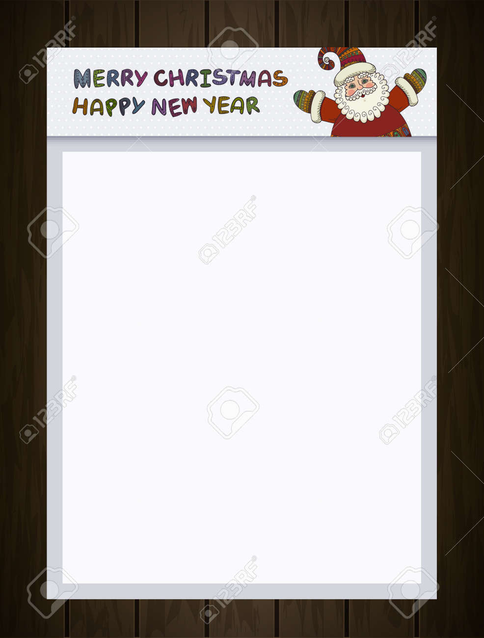 a4 blank santa claus merry christmas and happy new year labels for santa claus
