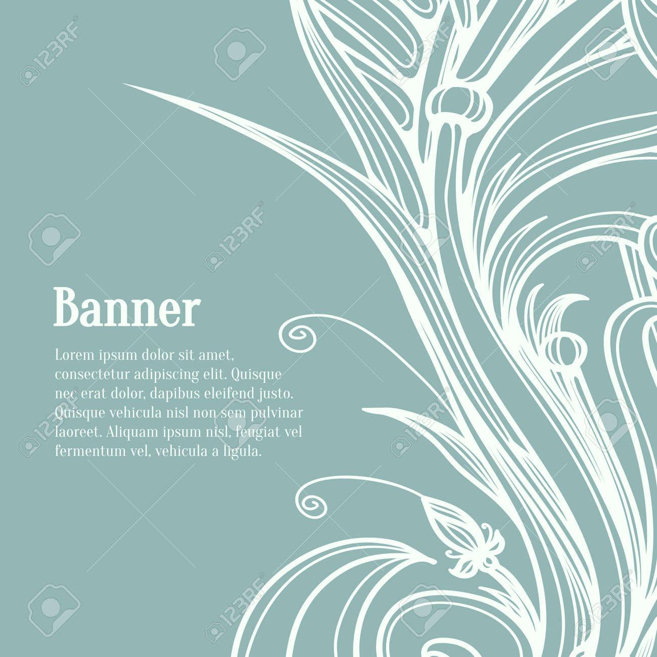 Elementos Caligráficos Del Diseño. Flourish Plantilla De Diseño ...