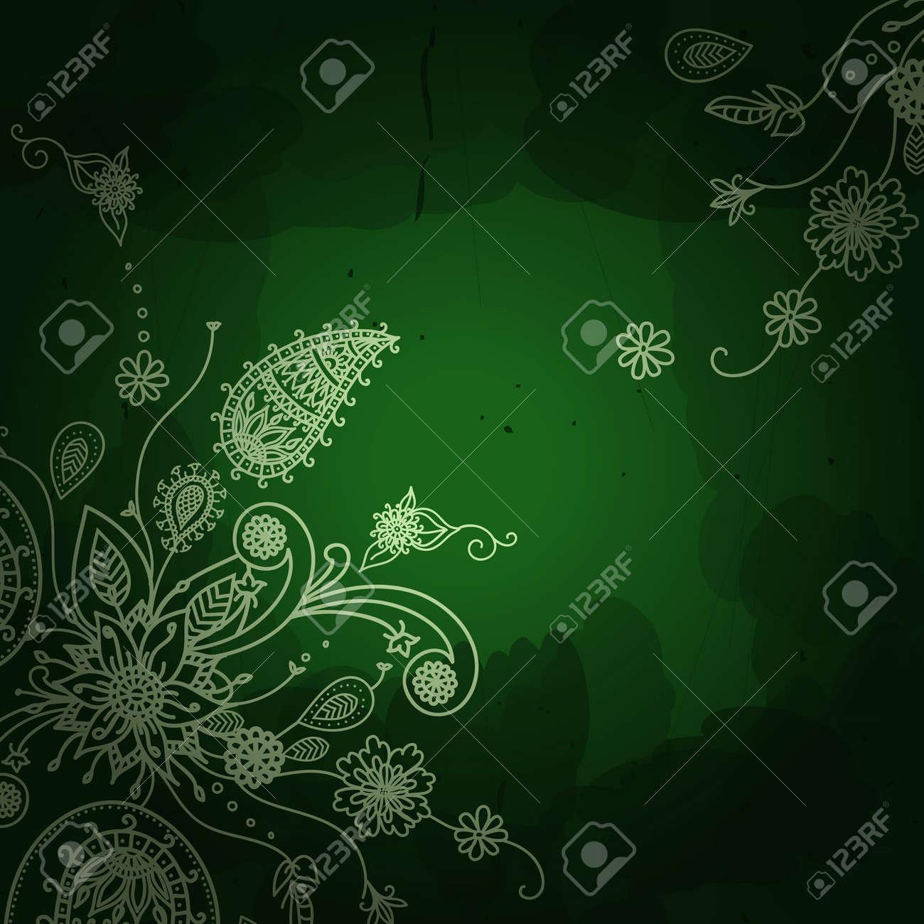 Bandera Del Vector En Estilo Oriental Decoración Tradicional. Marco ...