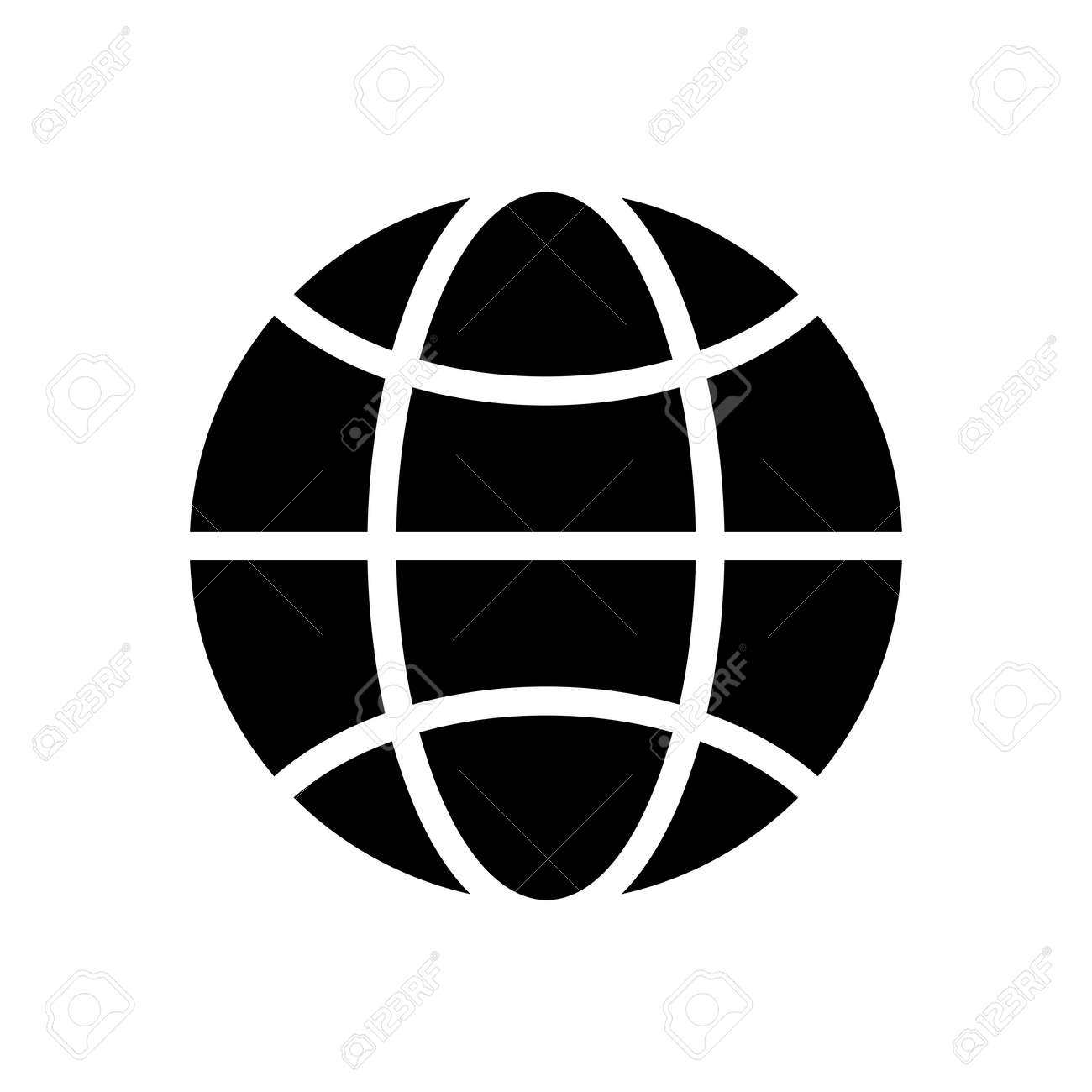 Perfect Vector   Vector Black And White Globe Icon.