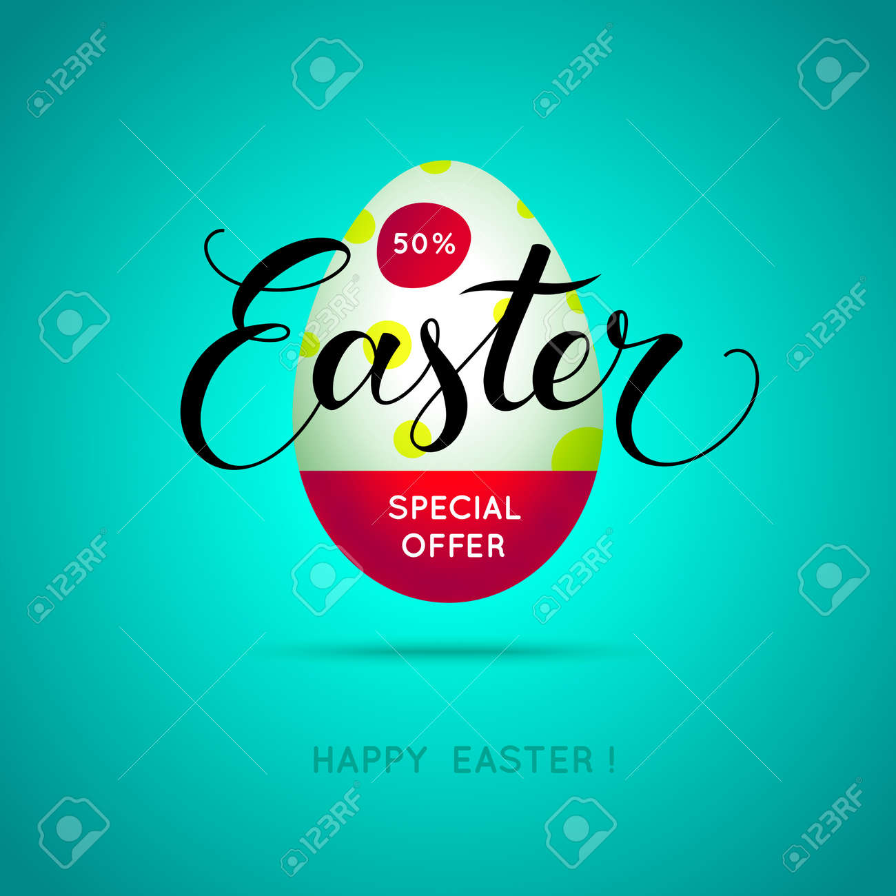 3d Easter Sale Banner Holiday Special Offer Poster Design Template