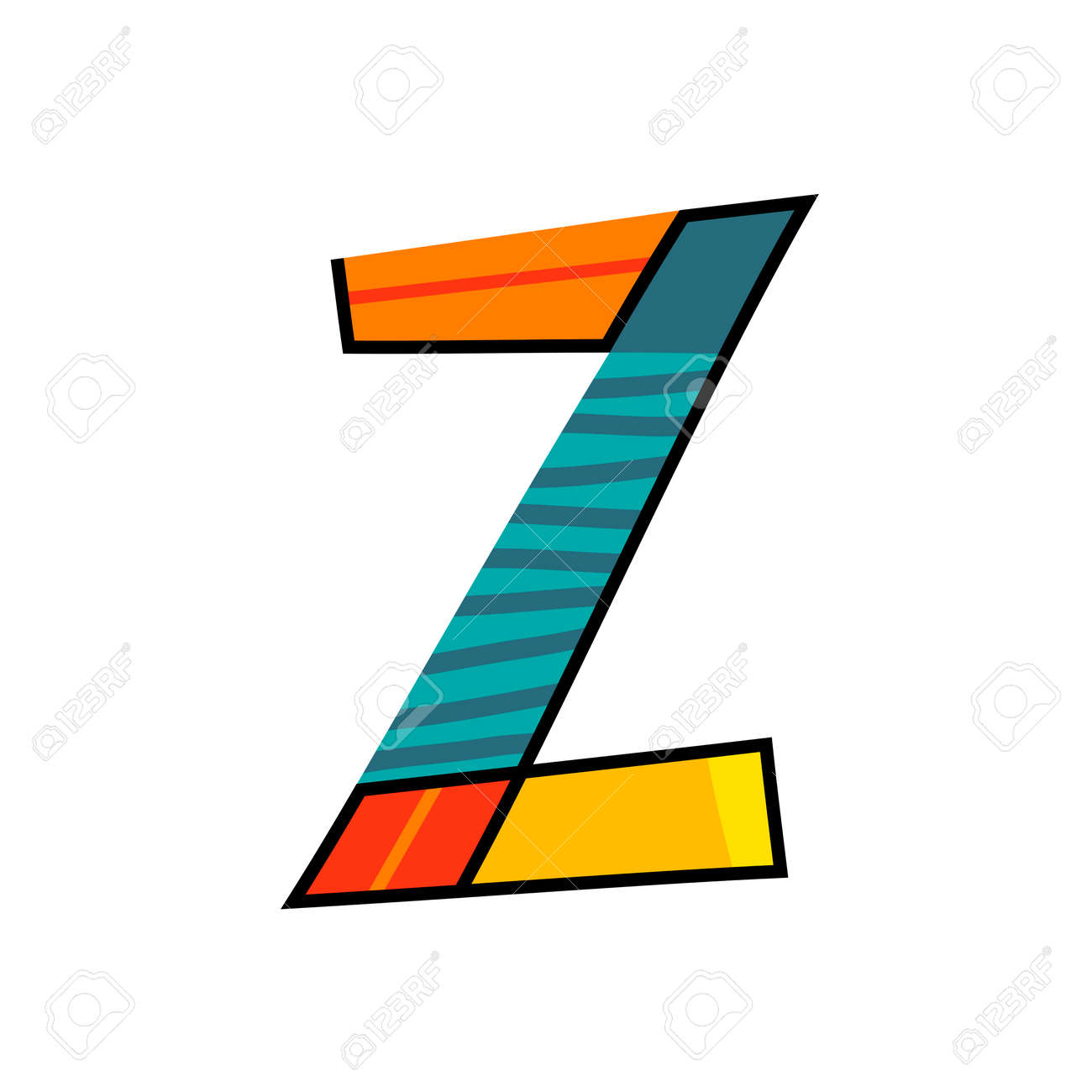 letter z from english alphabet. colorful logo template in modern