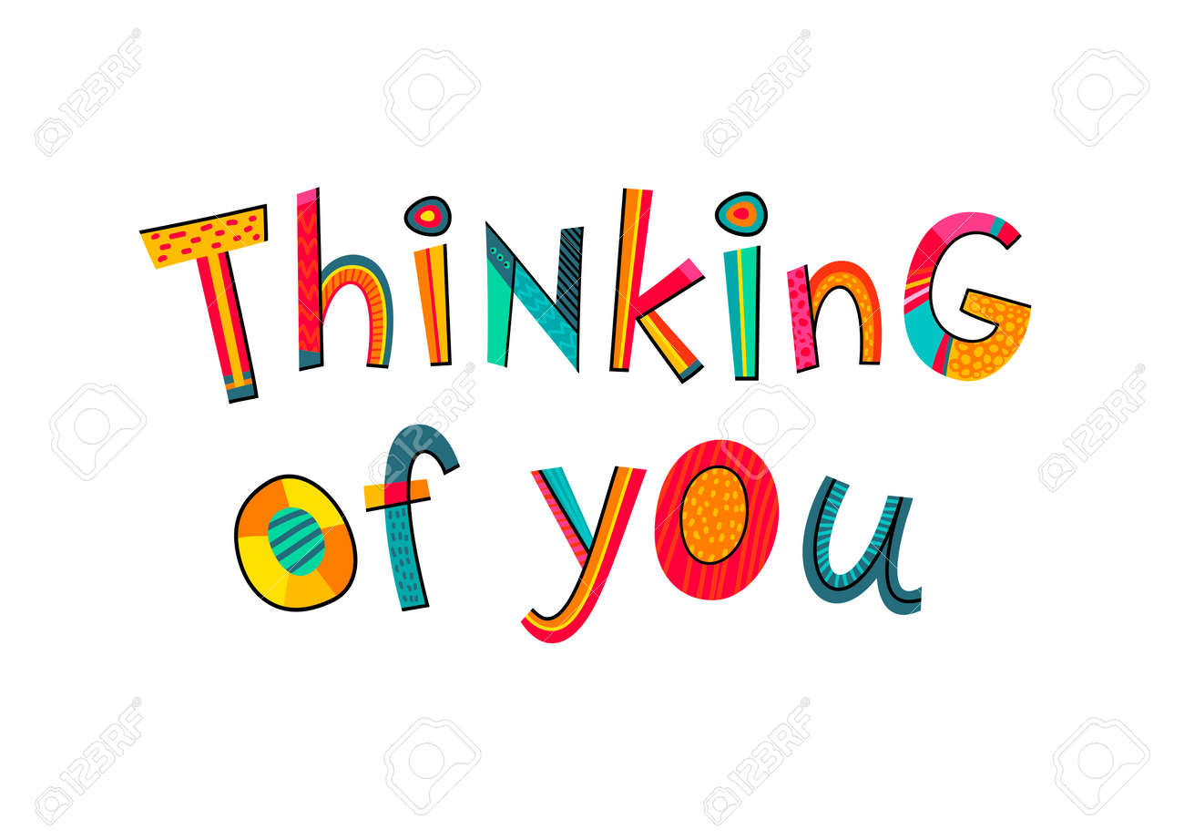 thinking of you text typography for card poster invitation rh 123rf com thinking of you animated clipart just thinking of you clipart