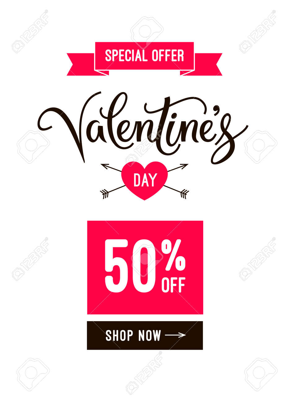 Valentines Day Sale Banner Design Email Template And Poster