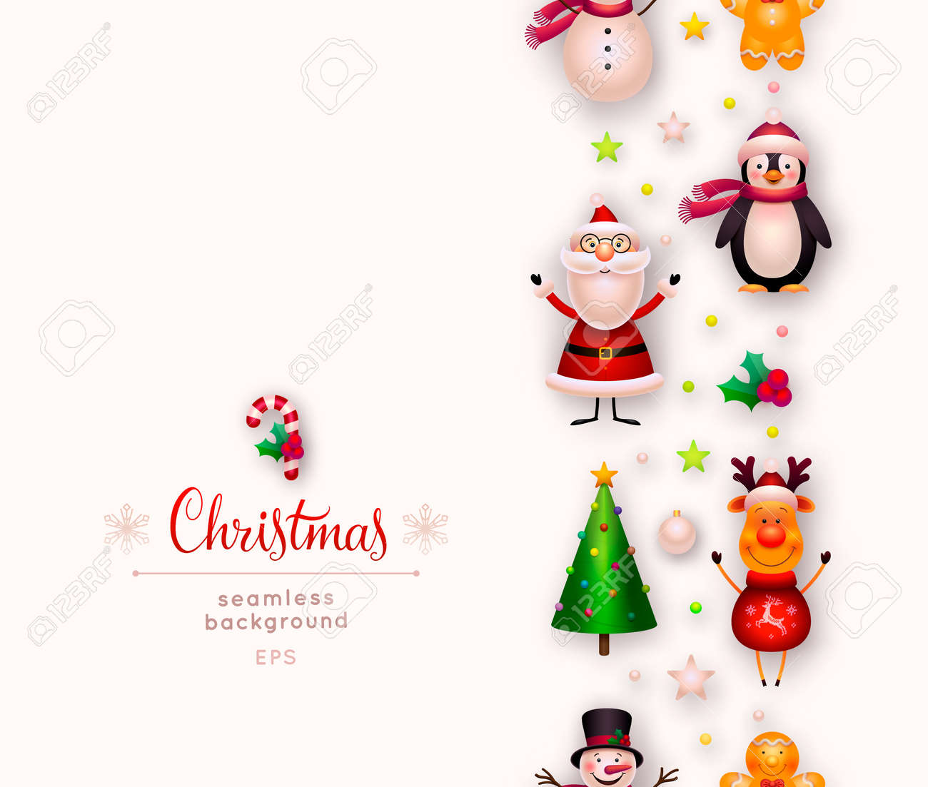 vector christmas background new year and xmas decorations cute stock photo picture and royalty free image image 112127678 123rf com