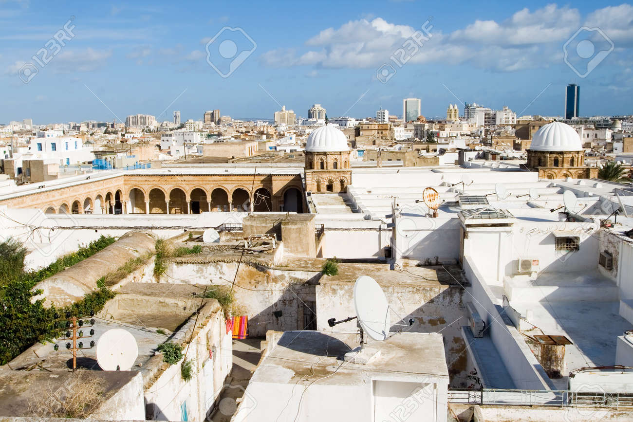 The Great Mosque Of Al Zaytuna Or Olive Tree Mosque Djemaa Ez Stock Photo Picture And Royalty Free Image Image 15367744