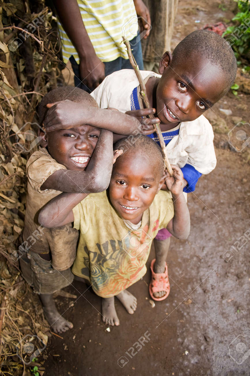 Ugandan Children Smiling