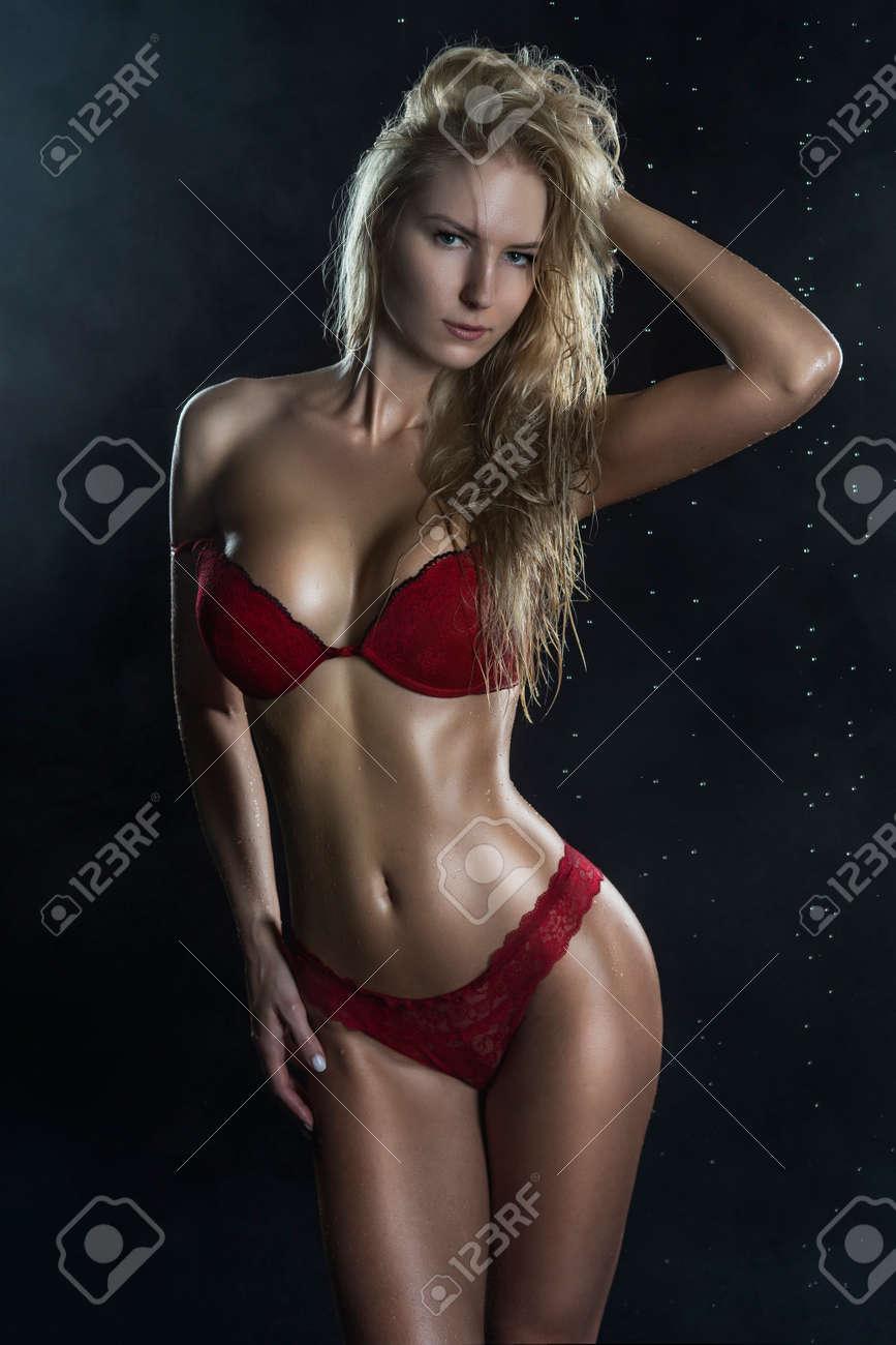 Blonde tan big tits