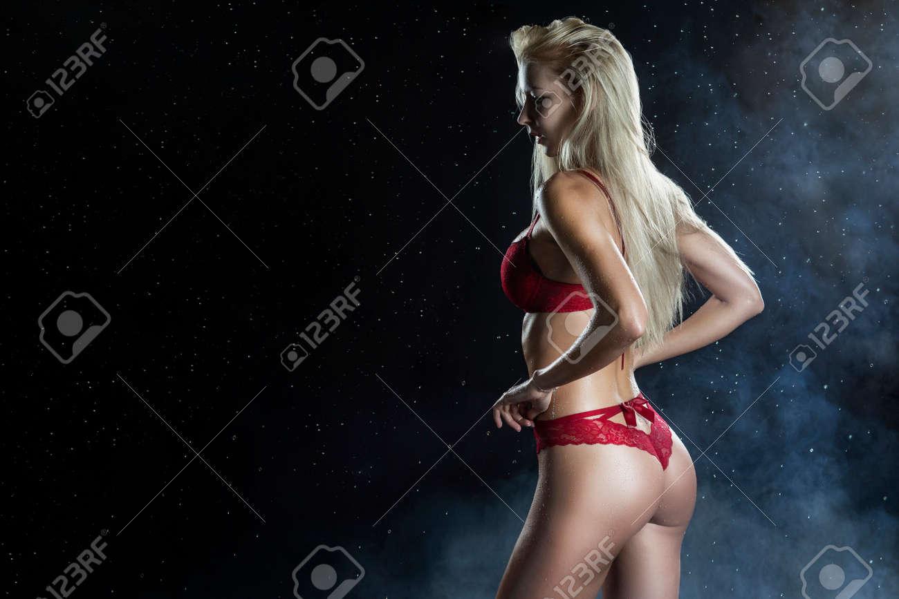 Wearing wet underwear