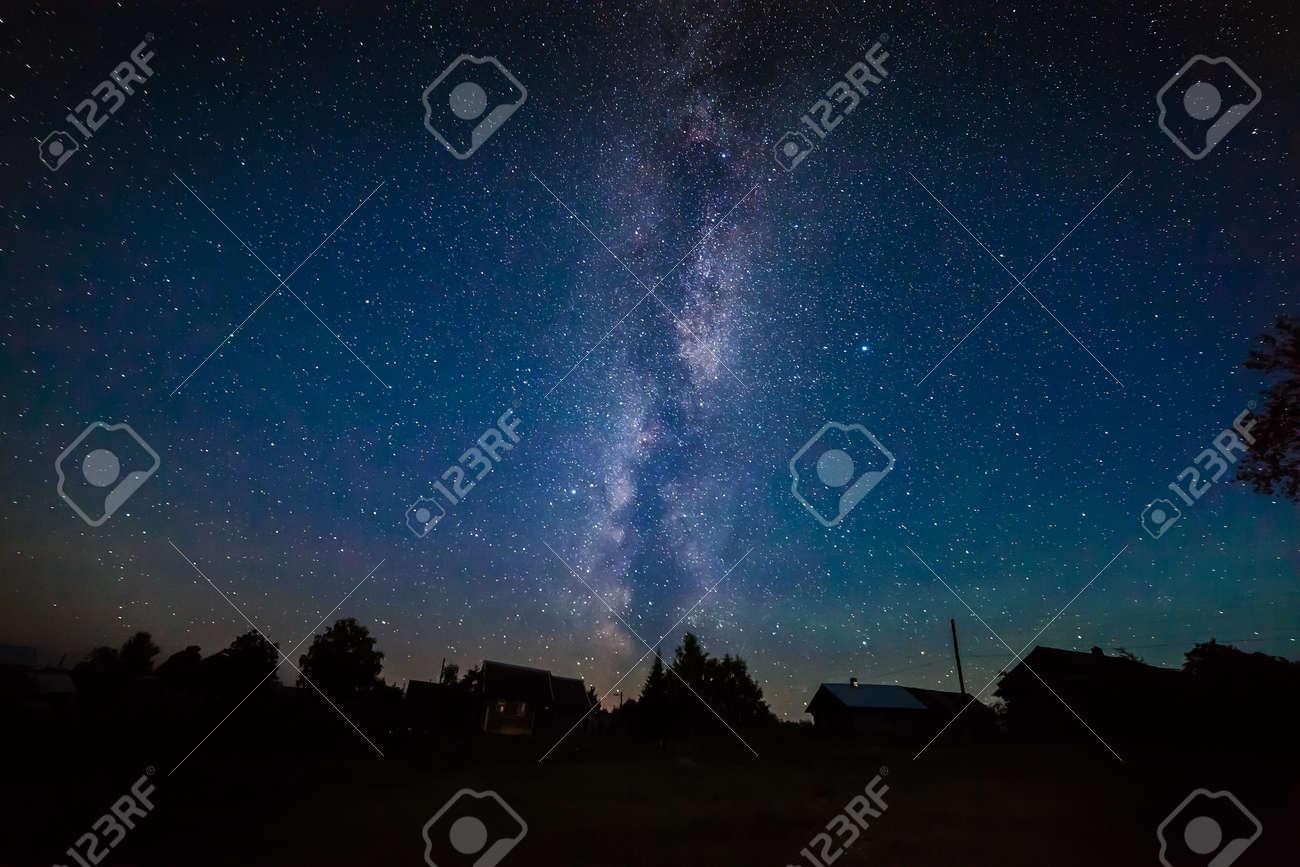 Milky Way in the night sky Stock Photo - 22889513