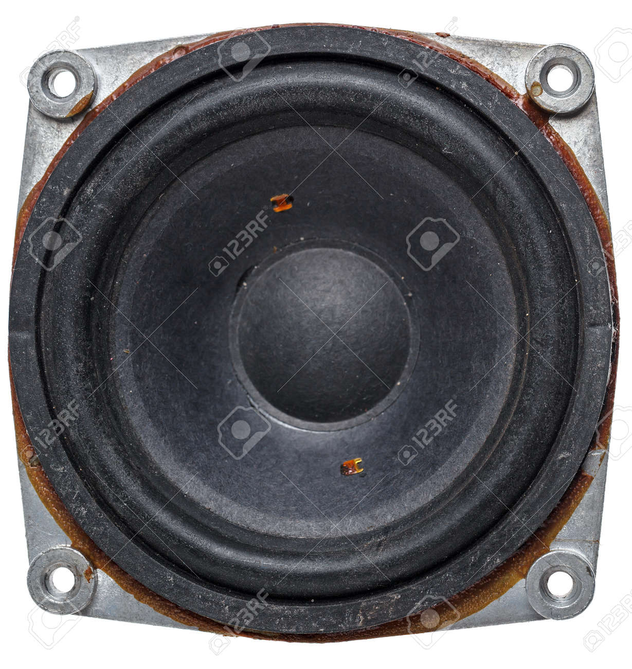 Old acoustic speaker, isolated on a white background Stock Photo - 26658355
