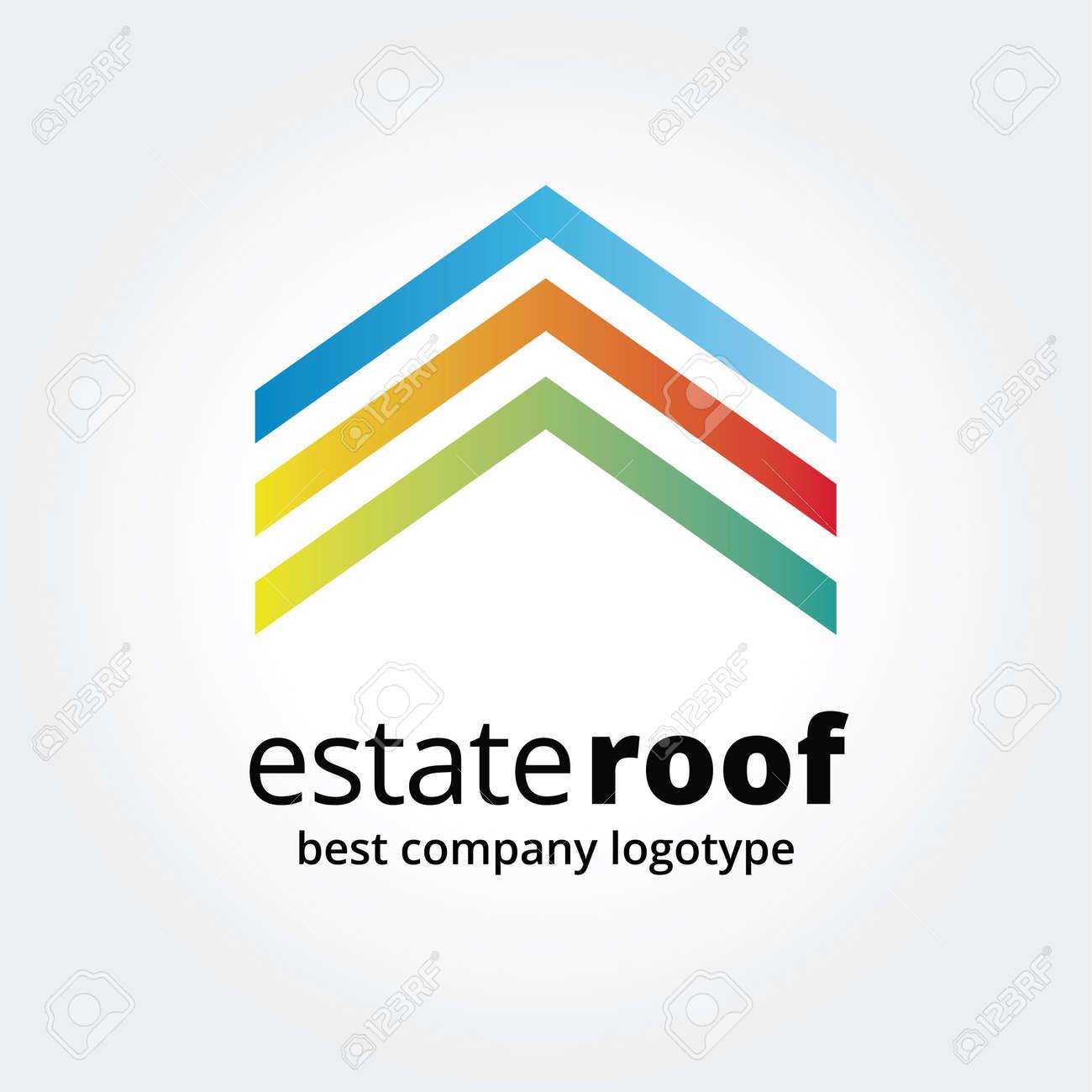 Abstrakt Haus Logo Symbol Konzept Isoliert Auf Weißem Hintergrund ...