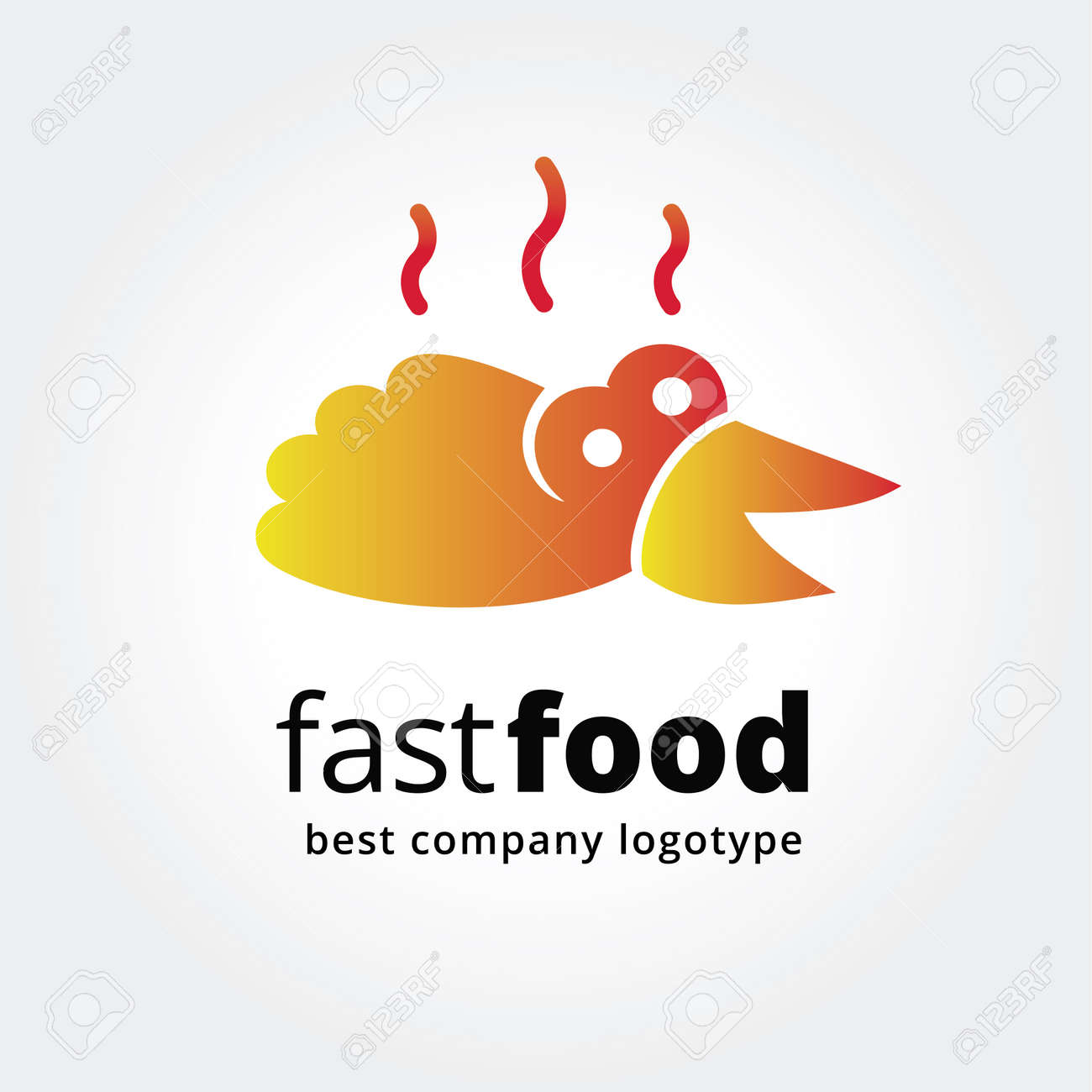 Abstrakt Fast-Food-Logo-Symbol Konzept Isoliert Auf Weißem ...