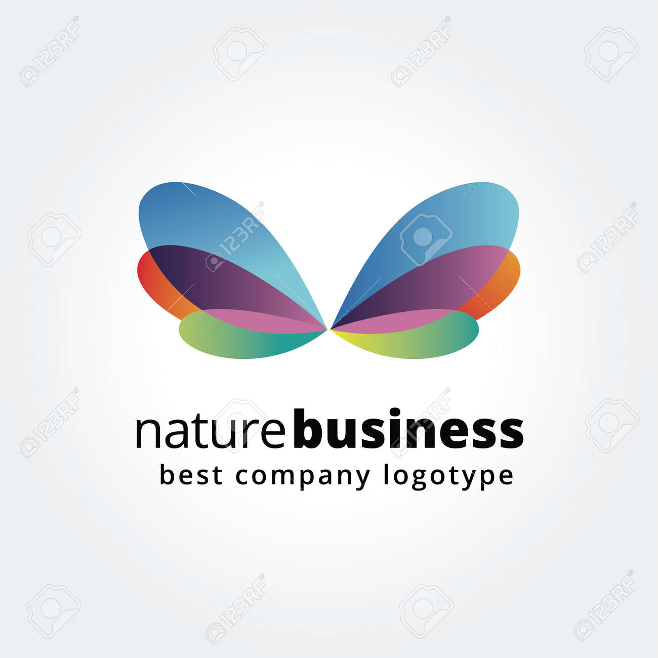 Abstract Nature Logo Icon Concept Isolated On White Background ...