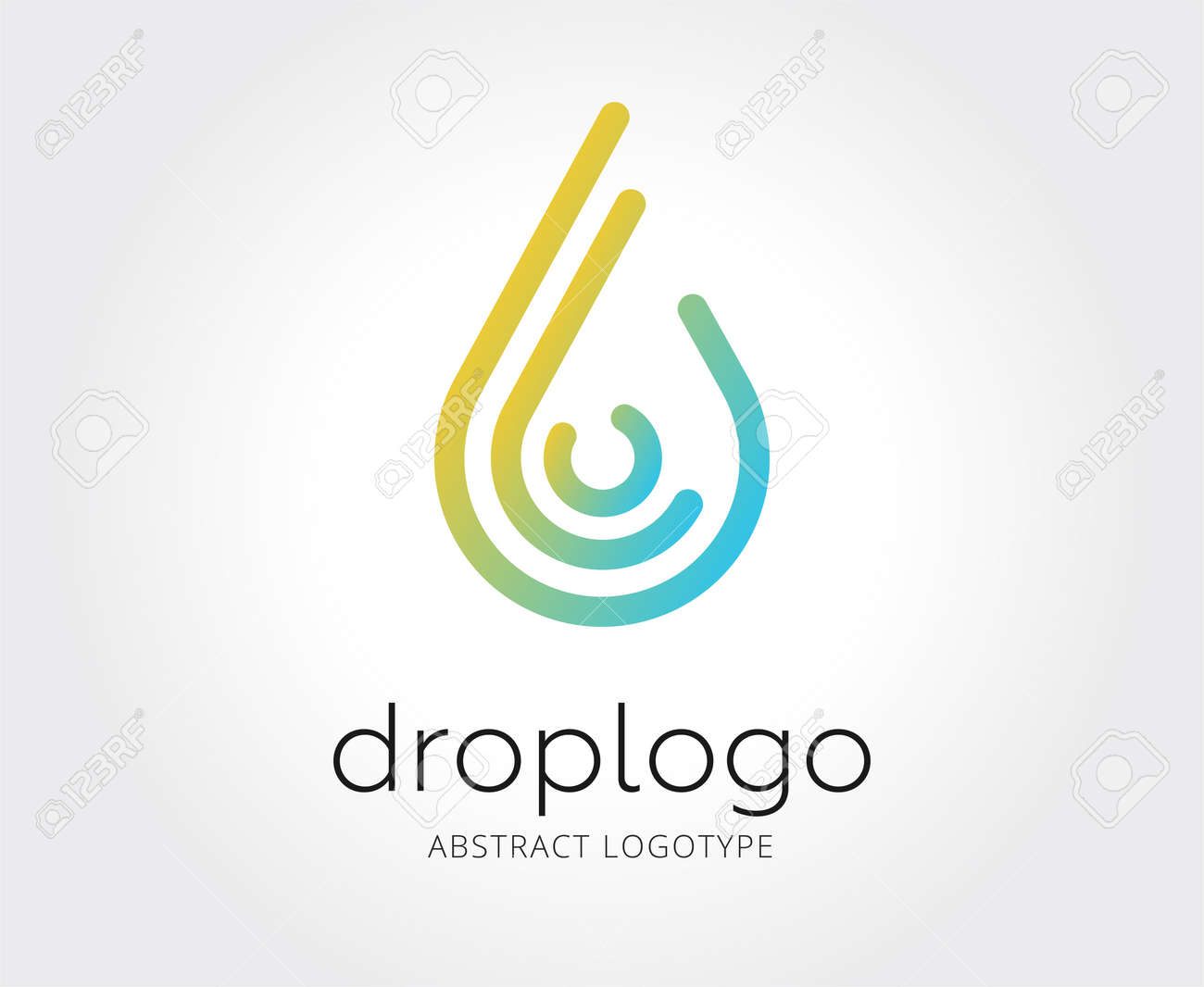 Abstract Water Drop Vector Logo Template For Branding And Design