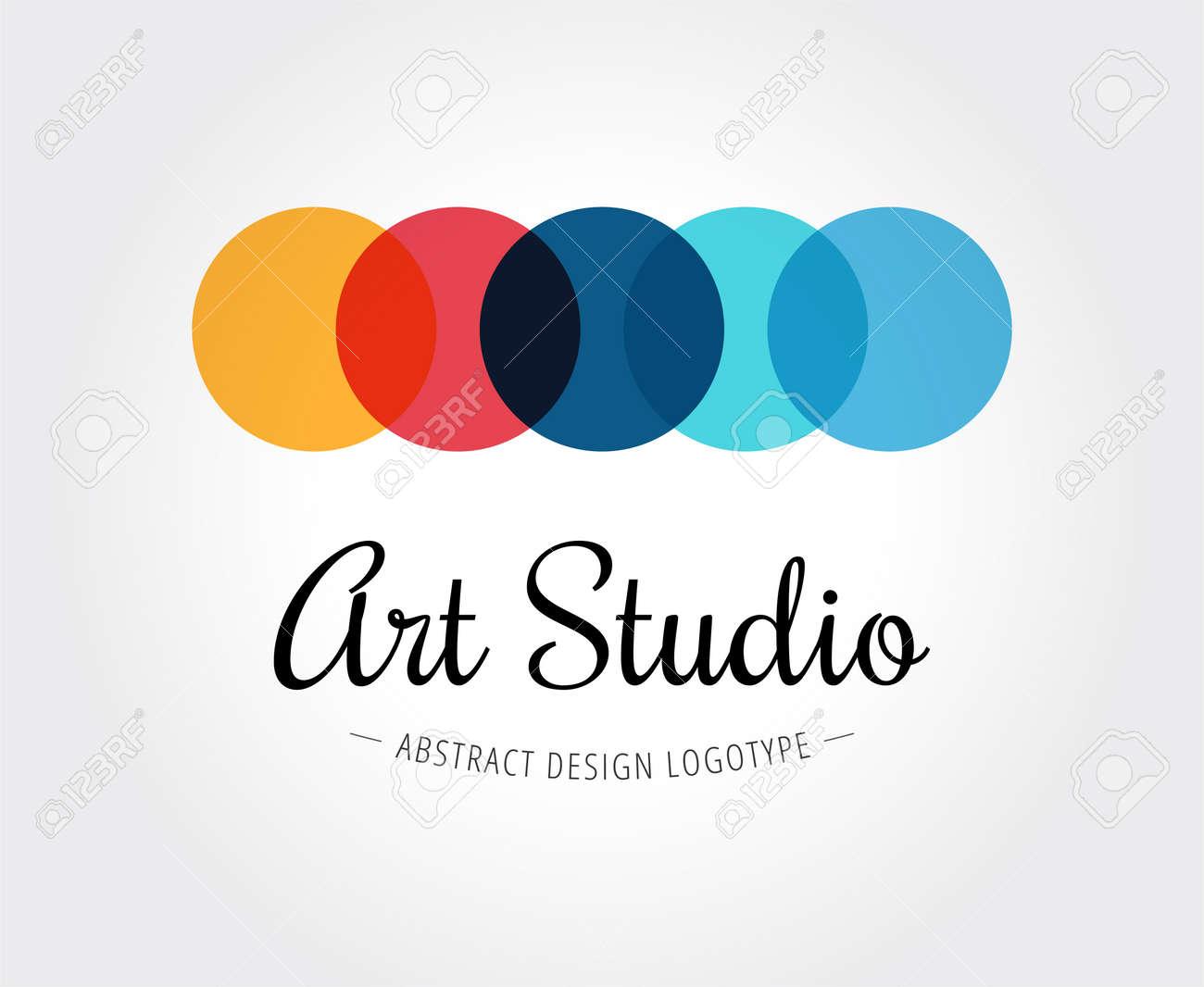 Abstrakte Kunst-Studio Vektor-Logo-Vorlage Für Branding Und Design ...