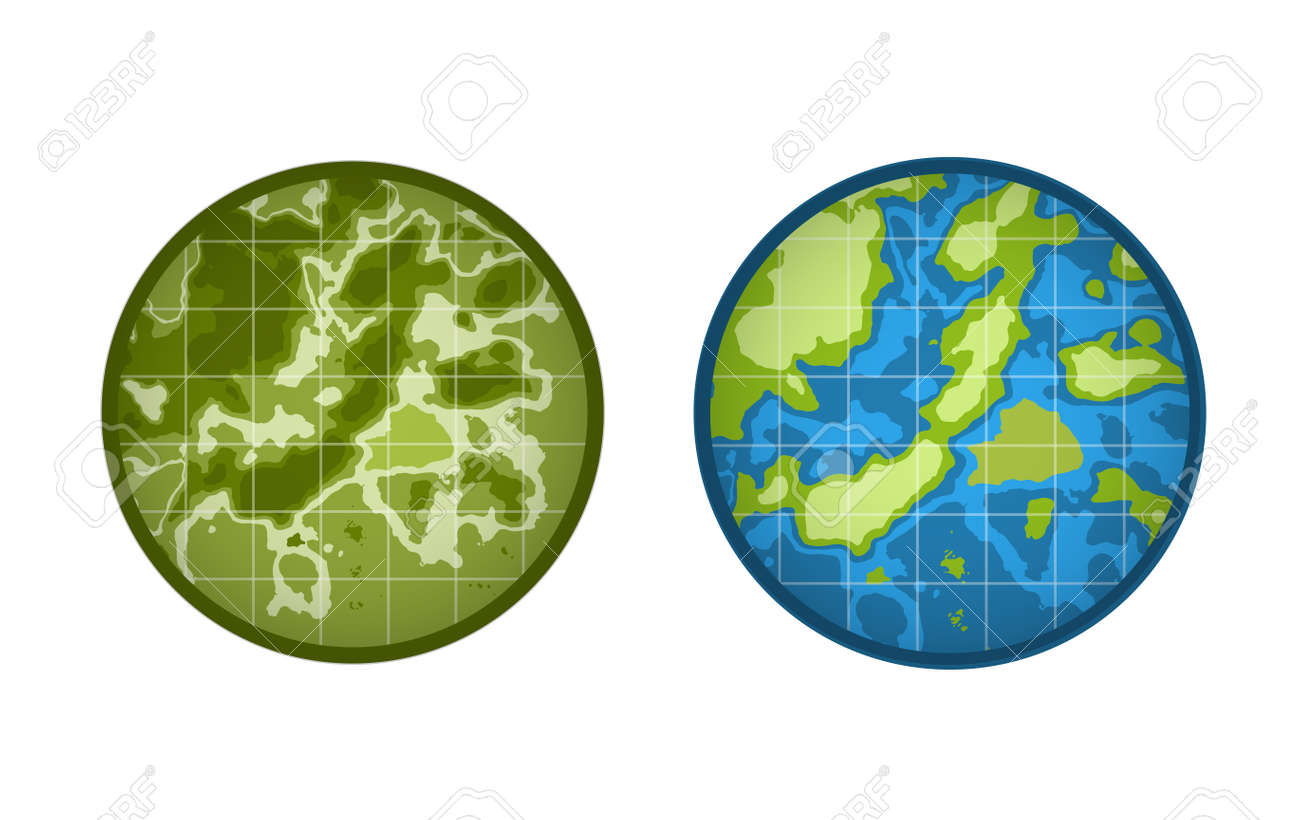 Global Earth icon isolated on white background  Map, Island or