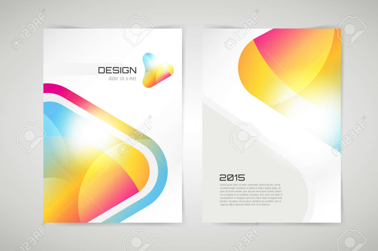 Vector Brochure Template. Abstract Arrow Design And Creative ...