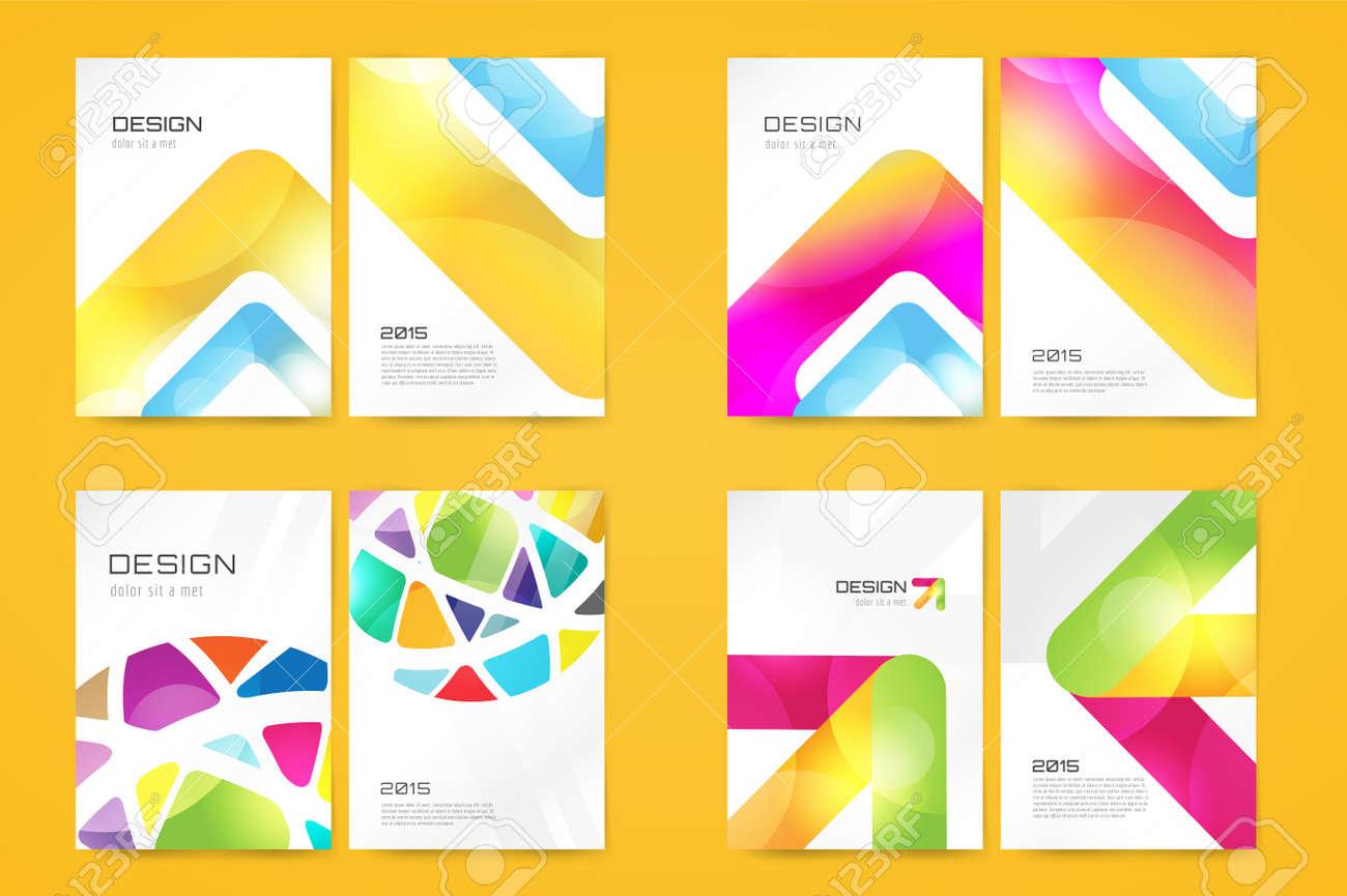 Vector Folleto Plantilla Fija. Diseño Abstracto Y La Idea Revista ...