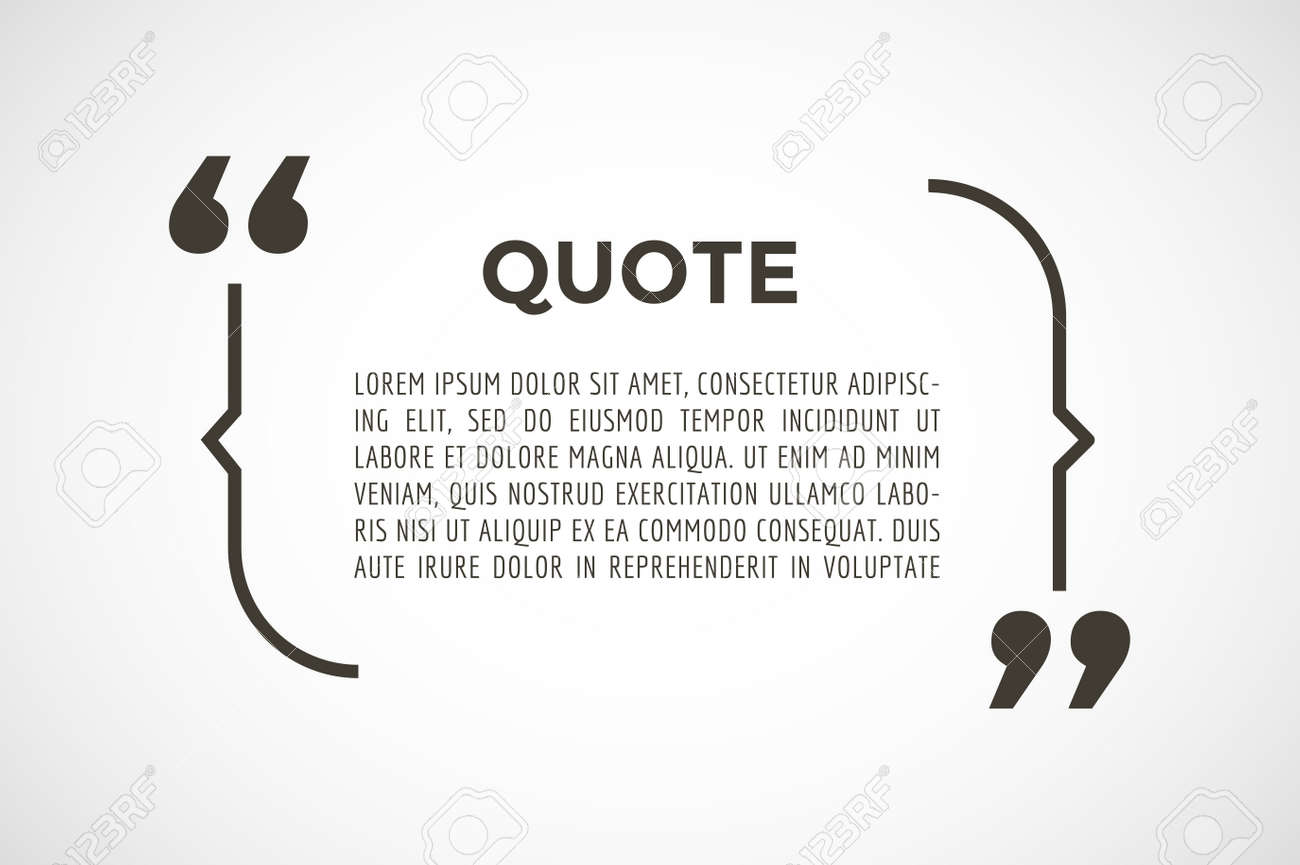 quote text bubble commas note message blank template text quote text bubble commas note message blank template text