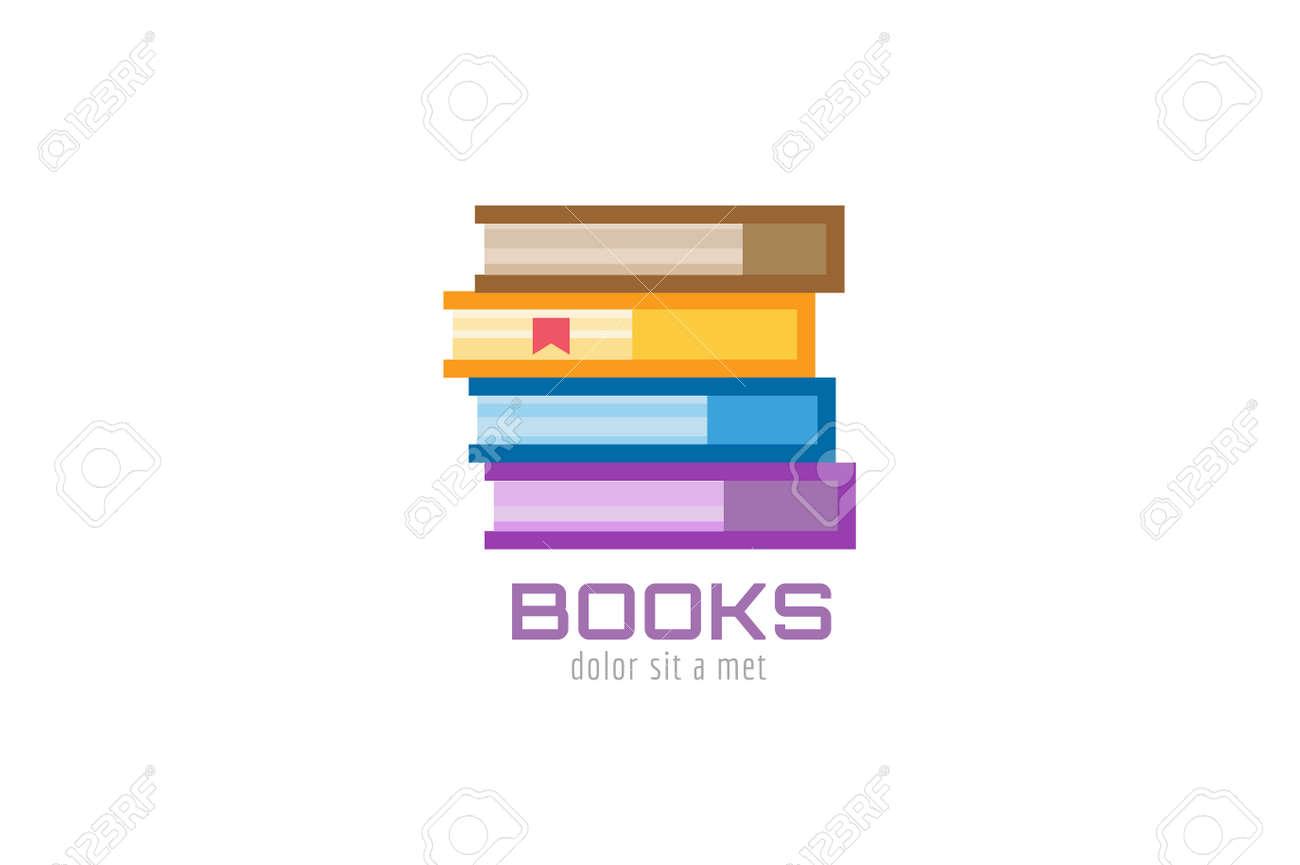 Plantilla De Libro Logo Icono. De Vuelta A La Escuela. Educación ...